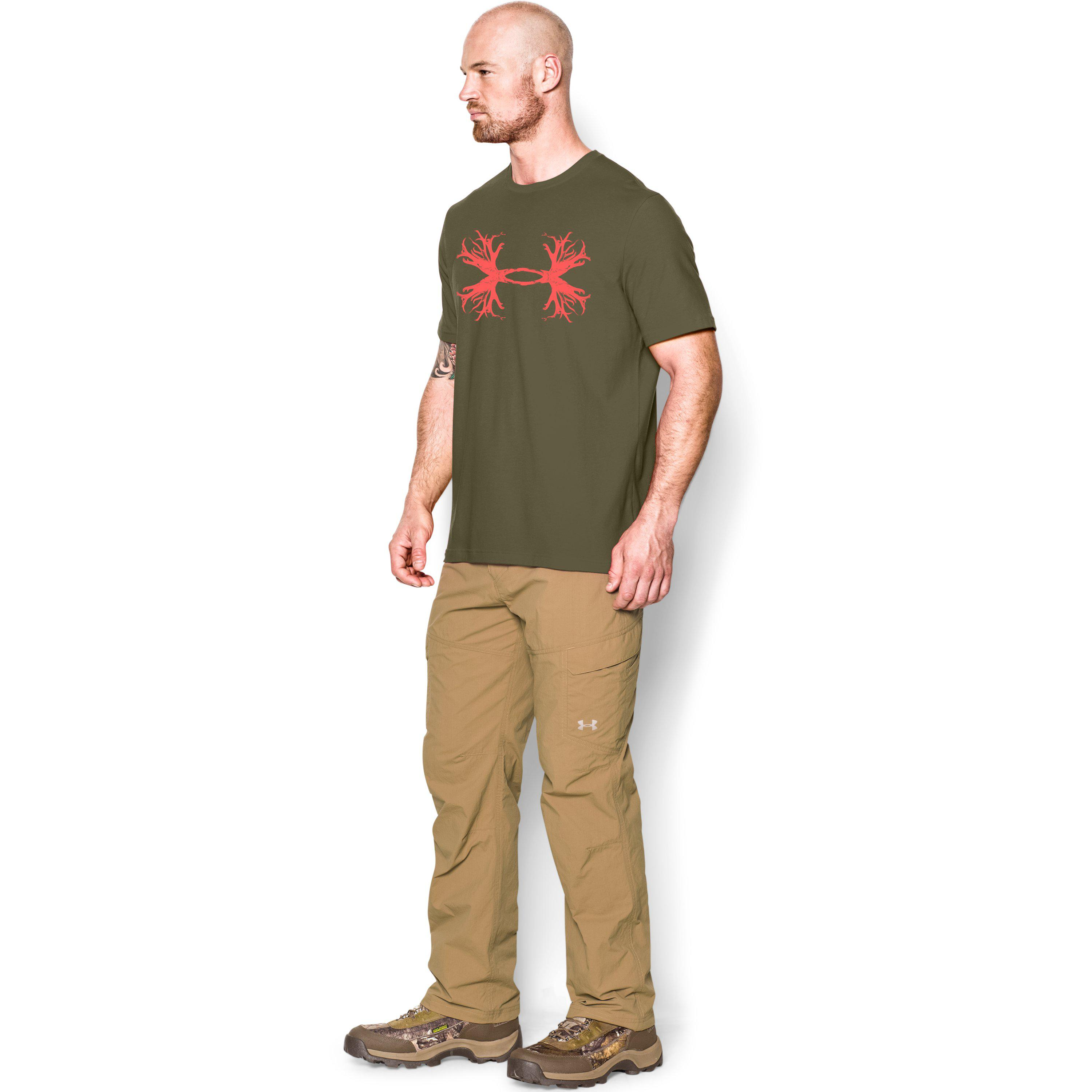 101bbe0a9 Under Armour Men's Ua Hunt Antler Logo T-shirt in Green for Men - Lyst