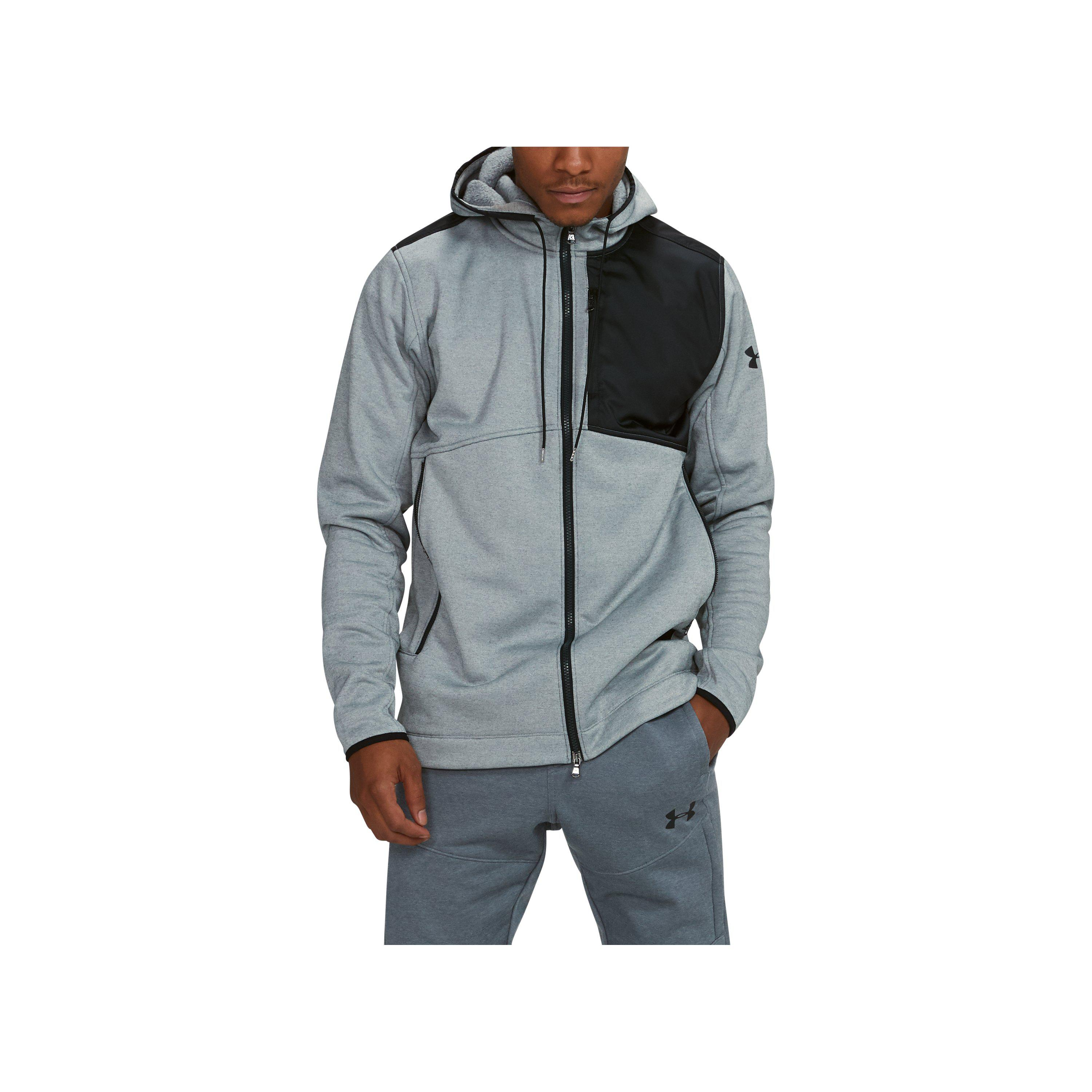 4477431a Under Armour Gray Men's Ua Pursuit Stealth Full Zip Hoodie for men