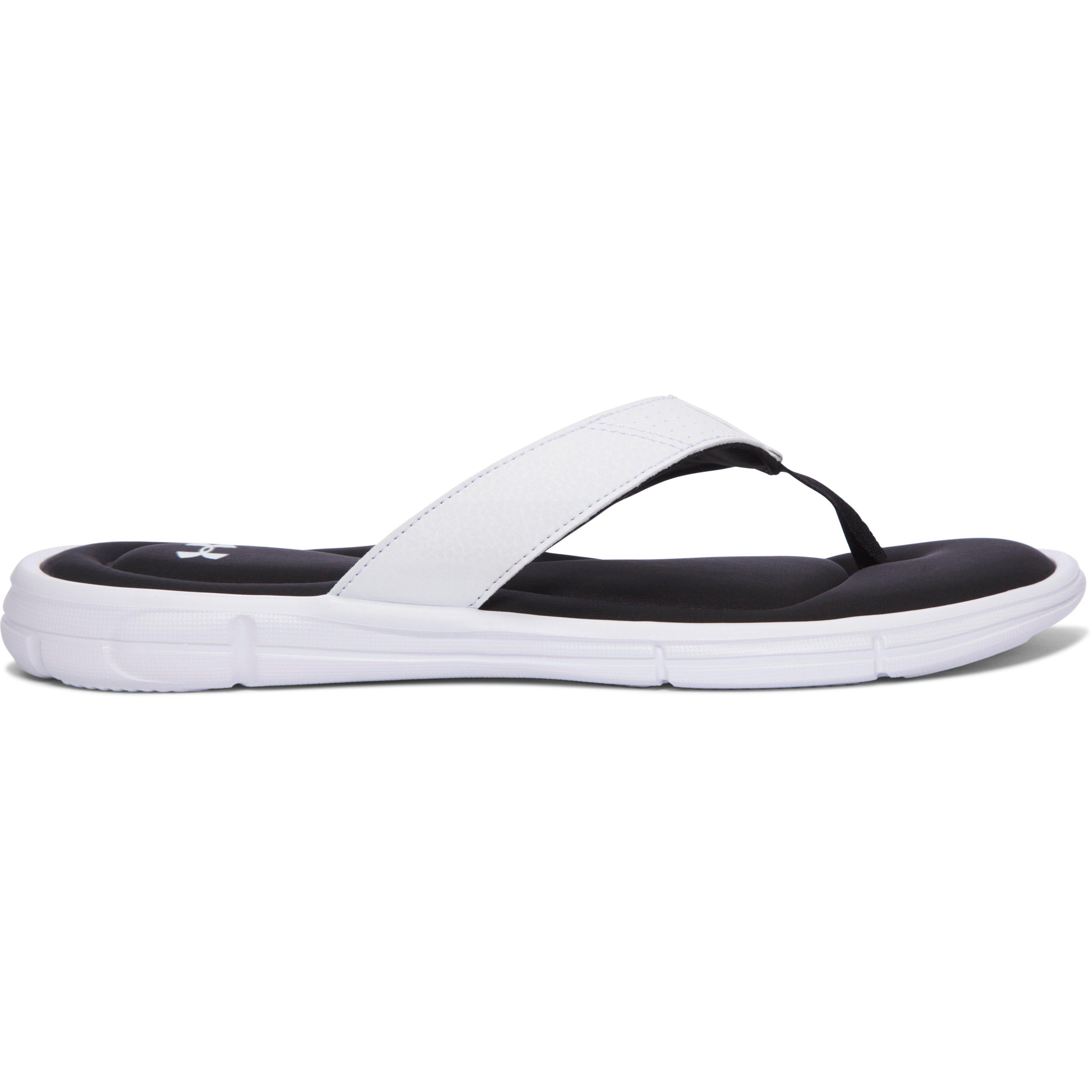 1654a2477e Under Armour White Ignite Ii Thong Flip Flops for men