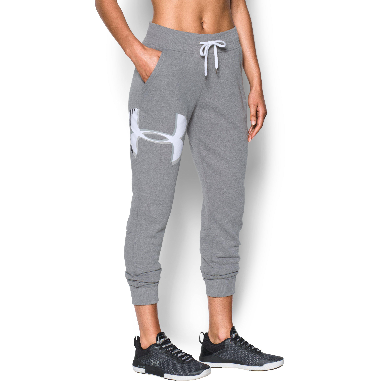 Lyst - Under Armour Women s Ua Favorite Fleece Graphic Logo Pants in ... 0894230f2b