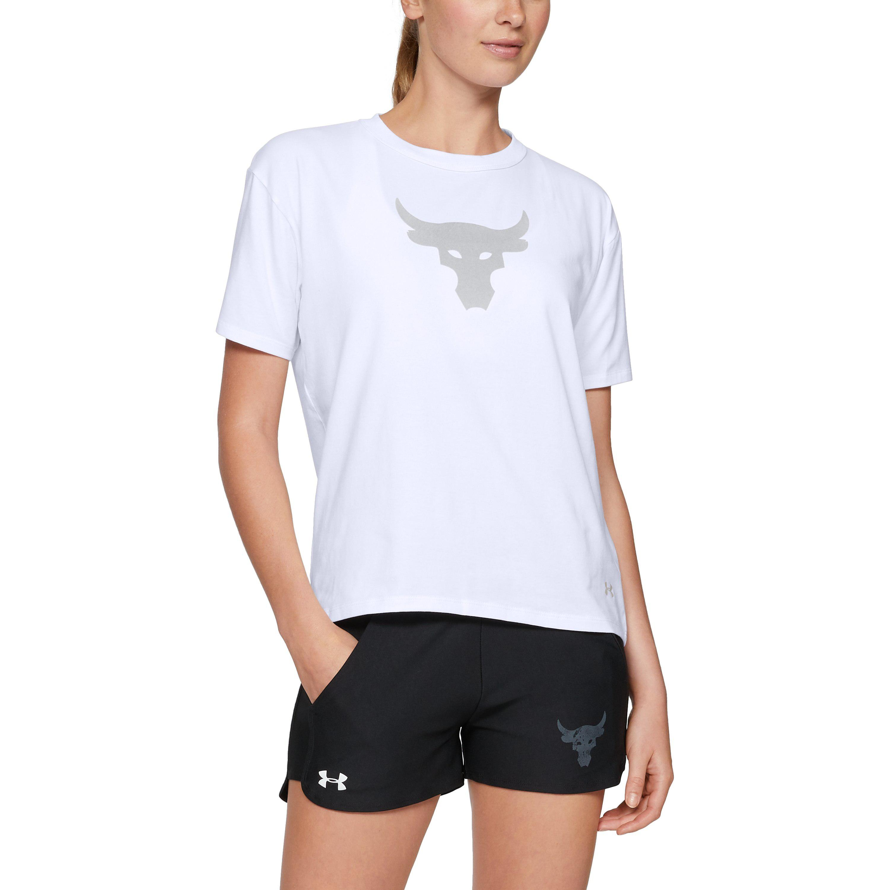 a8bf38fc2c Under Armour Women's Ua X Project Rock Bull Graphic Girlfriend Crew ...