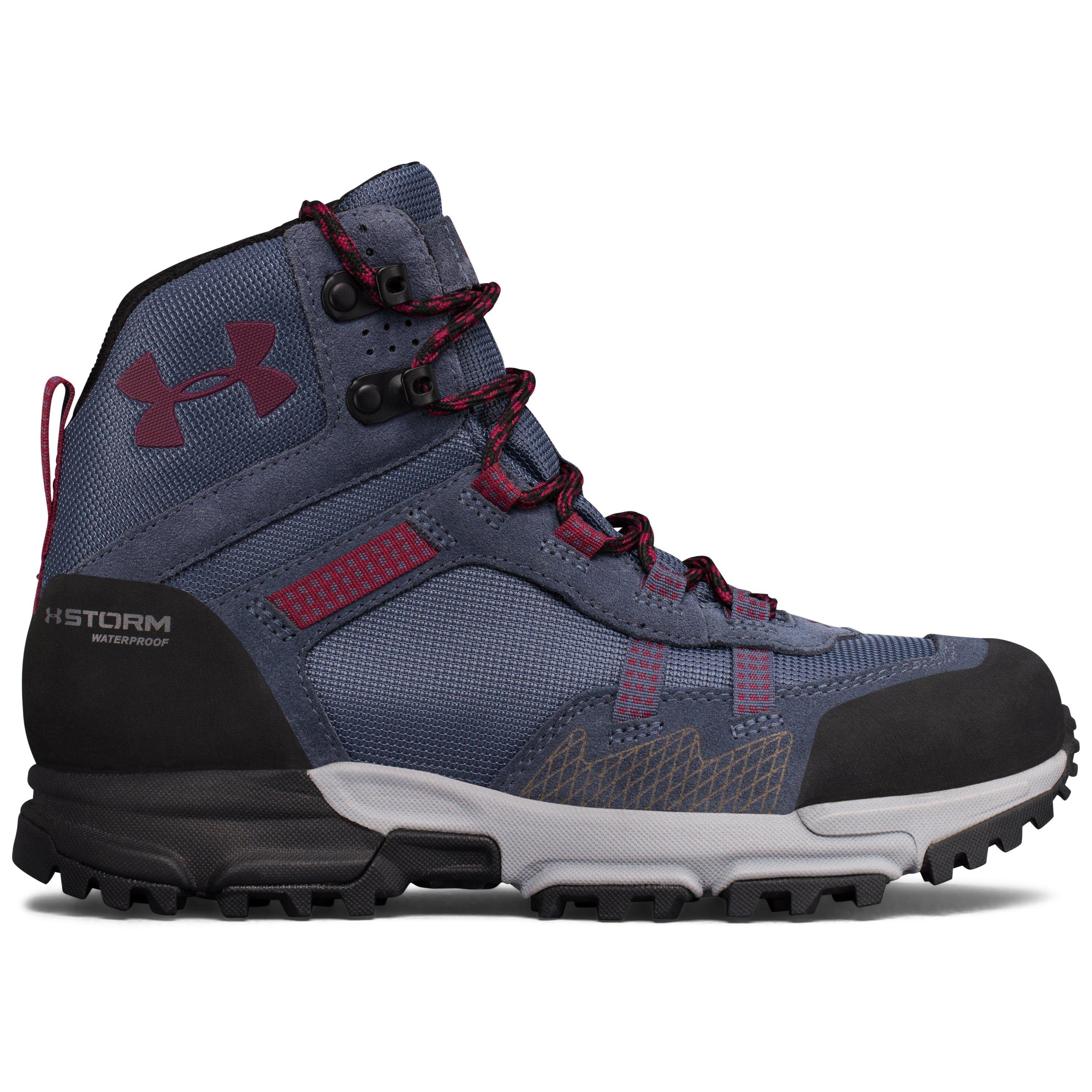 2a95fb34022 Under Armour Blue Women's Ua Post Canyon Mid Waterproof Hiking Boots