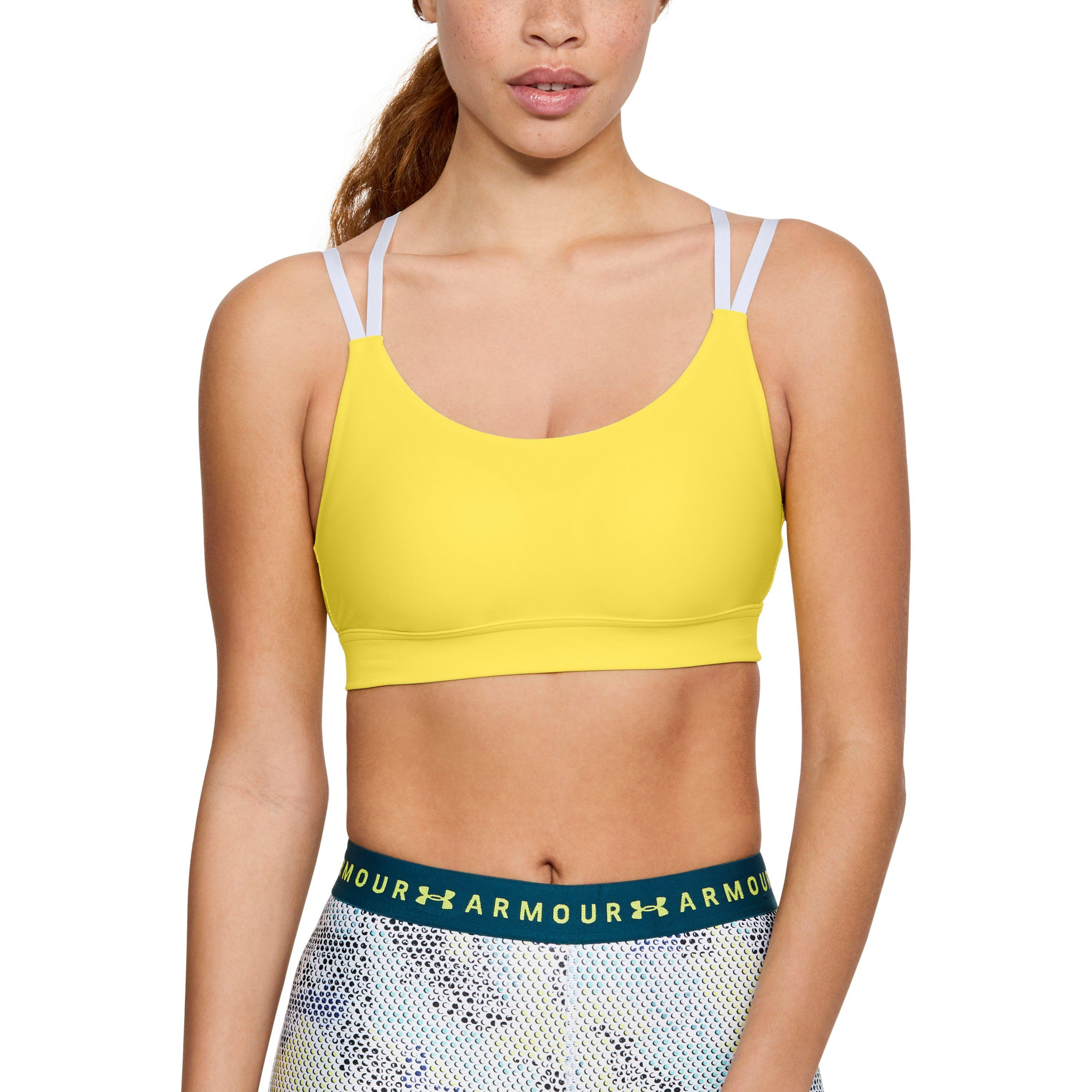 8d164f0d294d7 Lyst - Under Armour Vanish Low Impact Sports Bra in Yellow