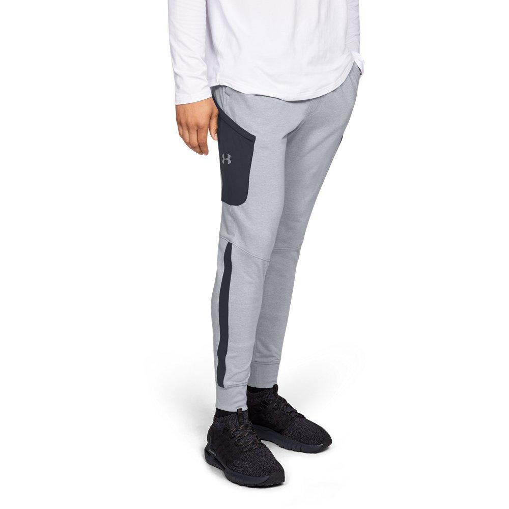 e090e64b Lyst - Under Armour Microthread Terry Joggers in Gray for Men