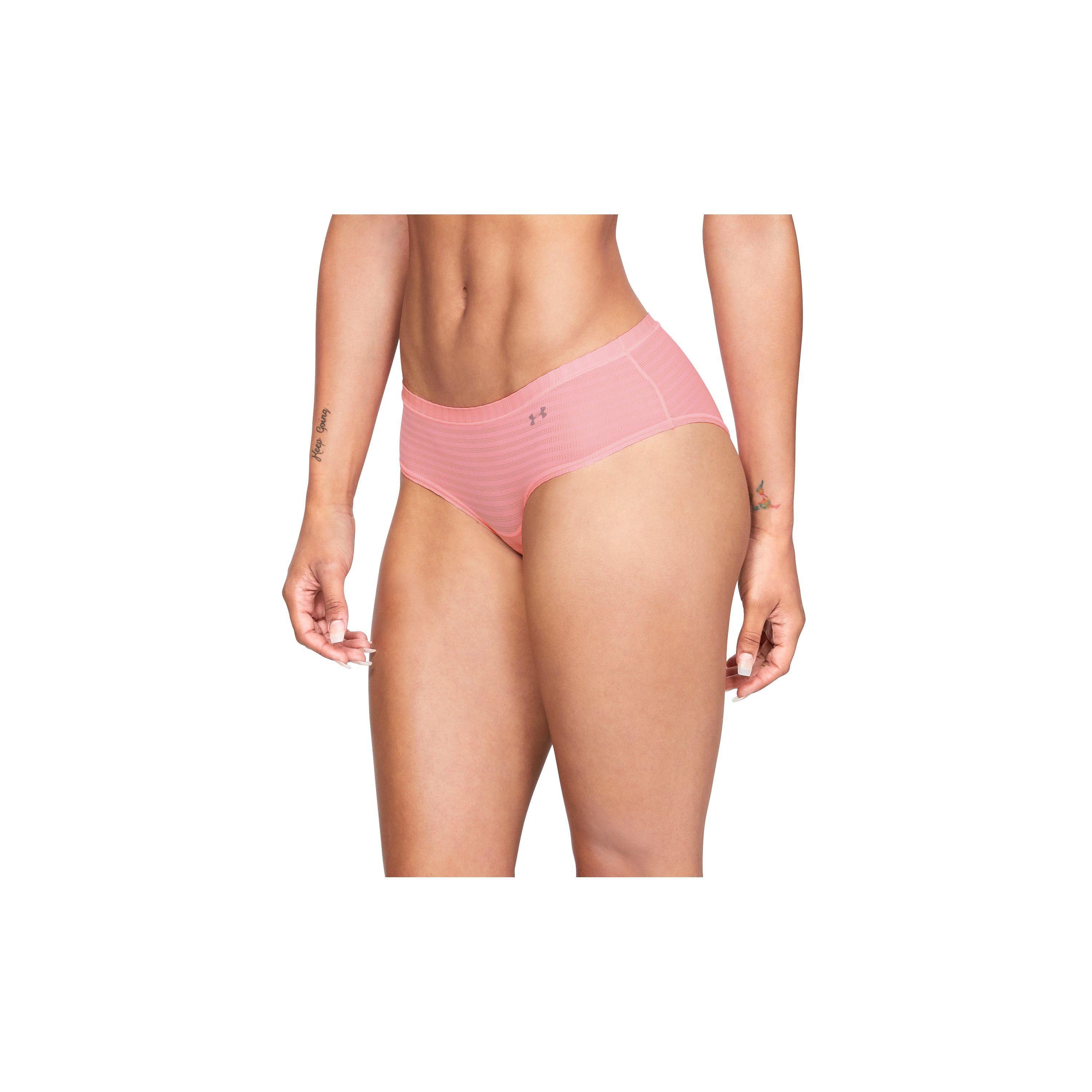5ce38635c6 Under Armour Pink Women's Ua Pure Stretch - Sheer Novelty Hipster
