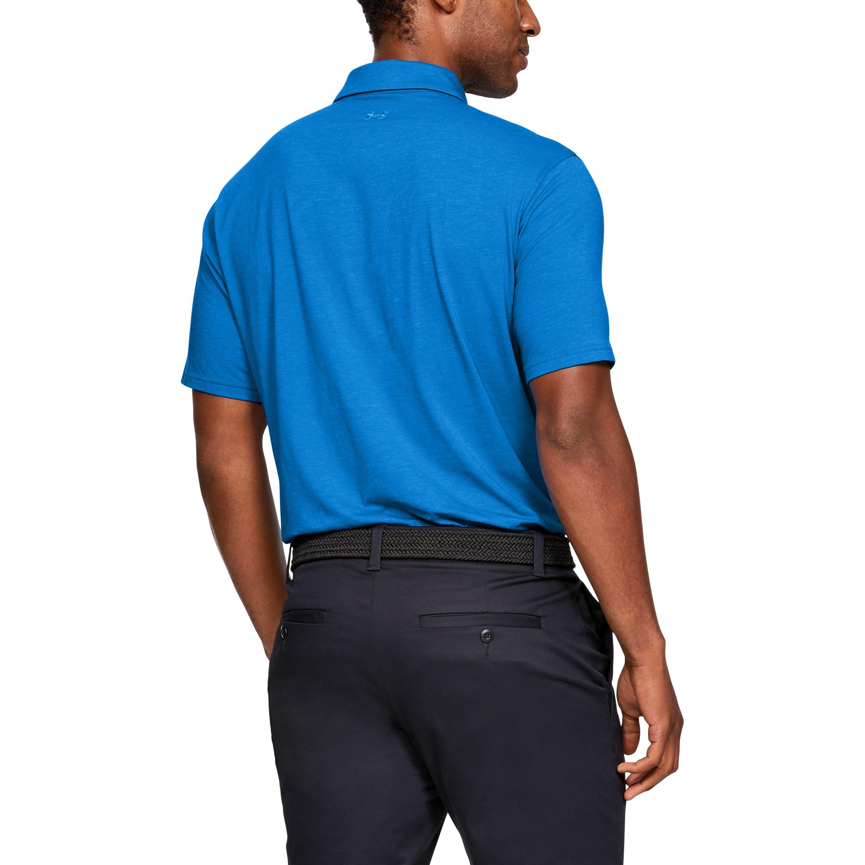 8fef3bfb Under Armour Men's Charged Cotton® Scramble Polo in Blue for Men - Lyst