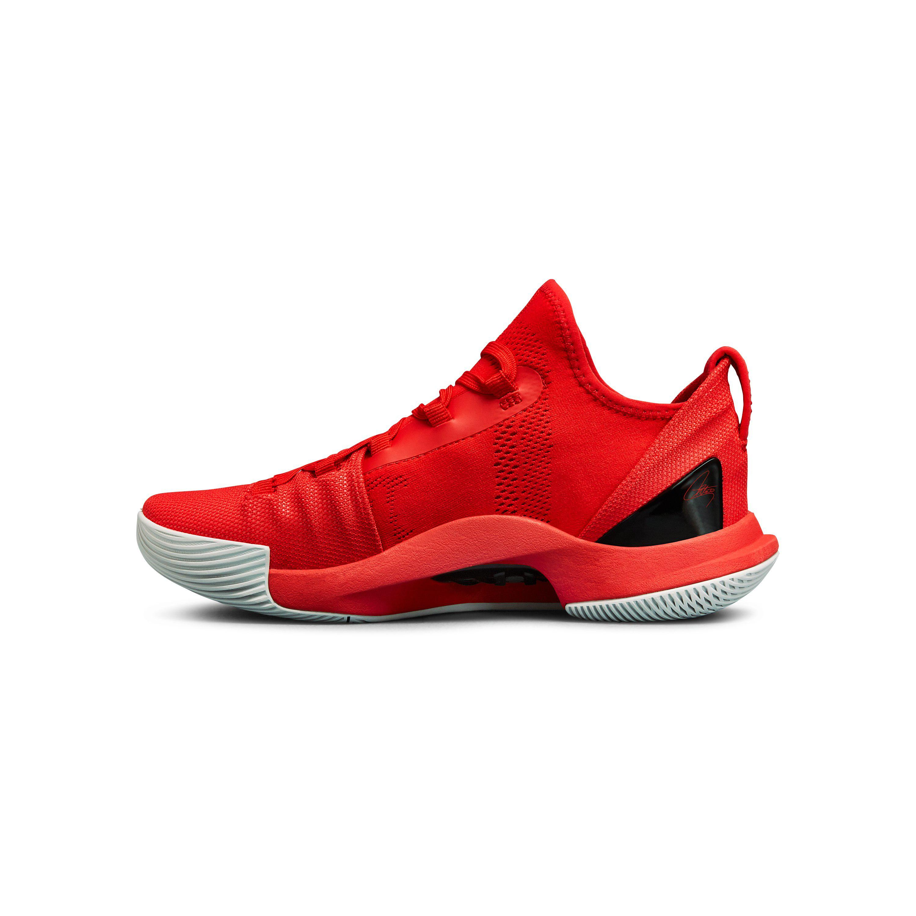 reputable site 08150 96d9a Under Armour Red Grade School Ua Curry 5 Basketball Shoes for men