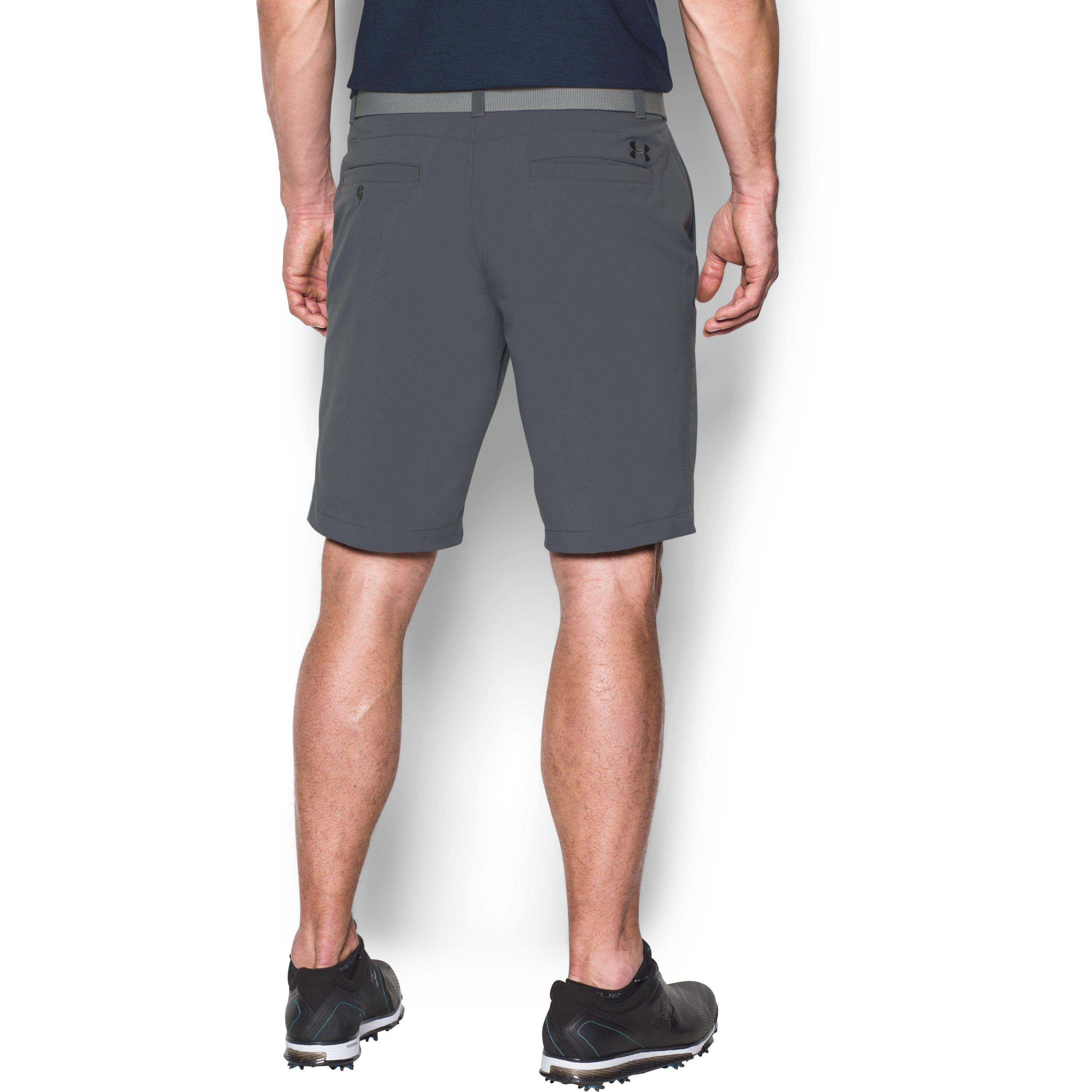 Lyst - Under Armour Men s Ua Match Play Tapered Shorts in Gray for Men 1aa5d1e1149