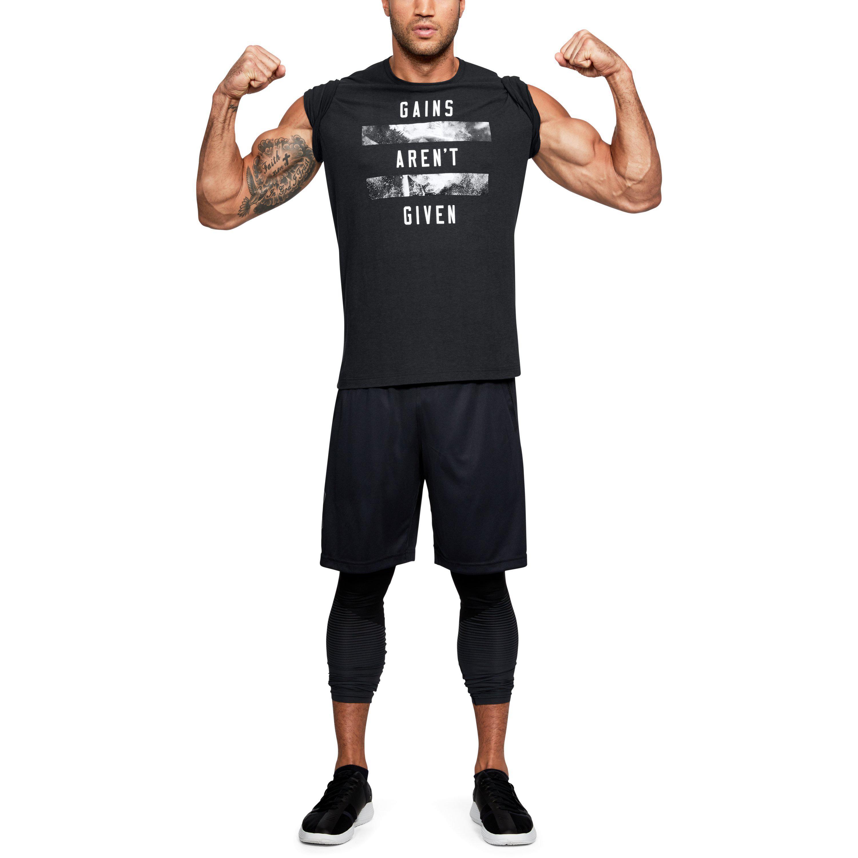 zo goedkoop mooie schoenen redelijk geprijsd Under Armour Black Men's Ua Gains Aren't Given T-shirt for men