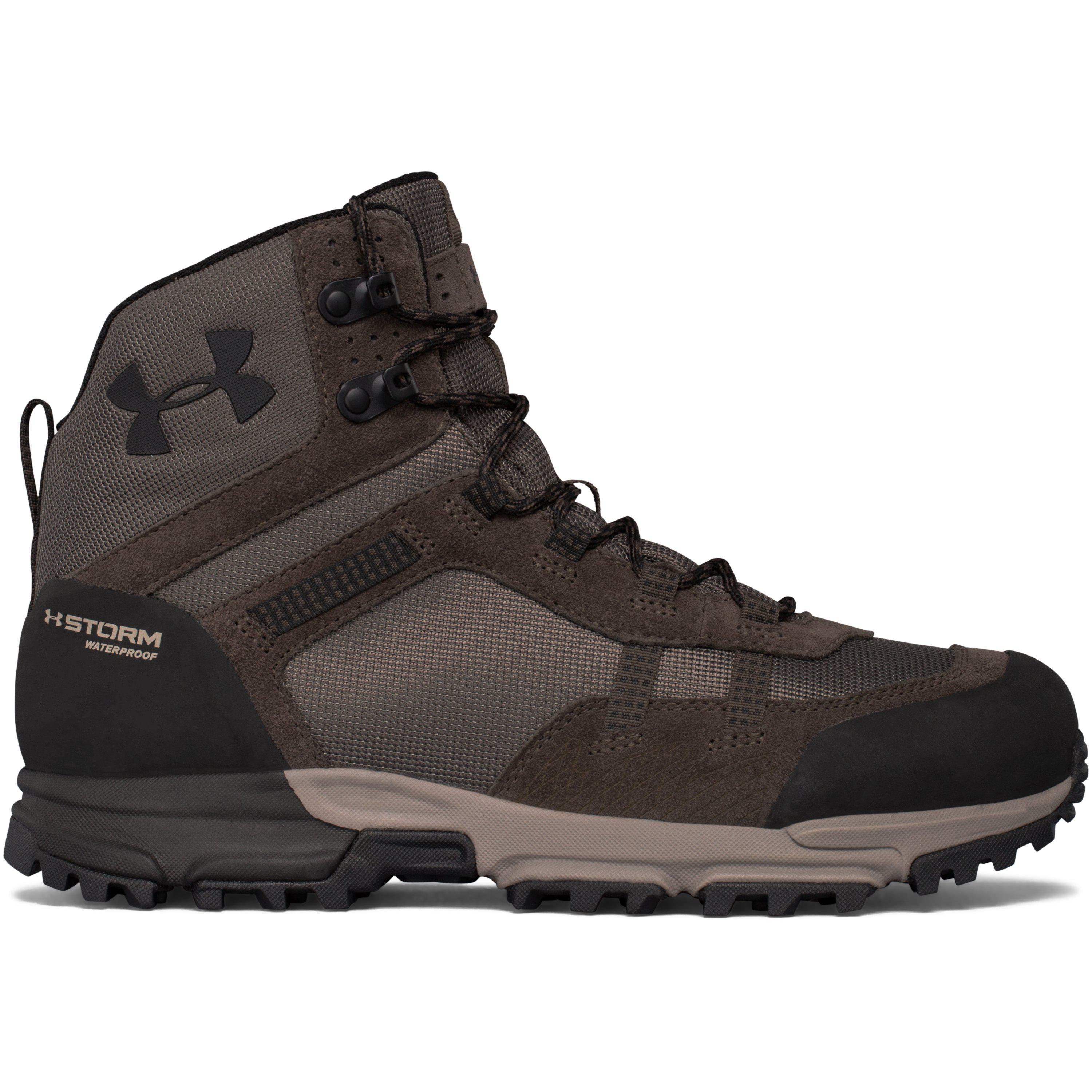 d341f18a4b8 Under Armour Black Men's Ua Post Canyon Mid Waterproof Hiking Boots for men