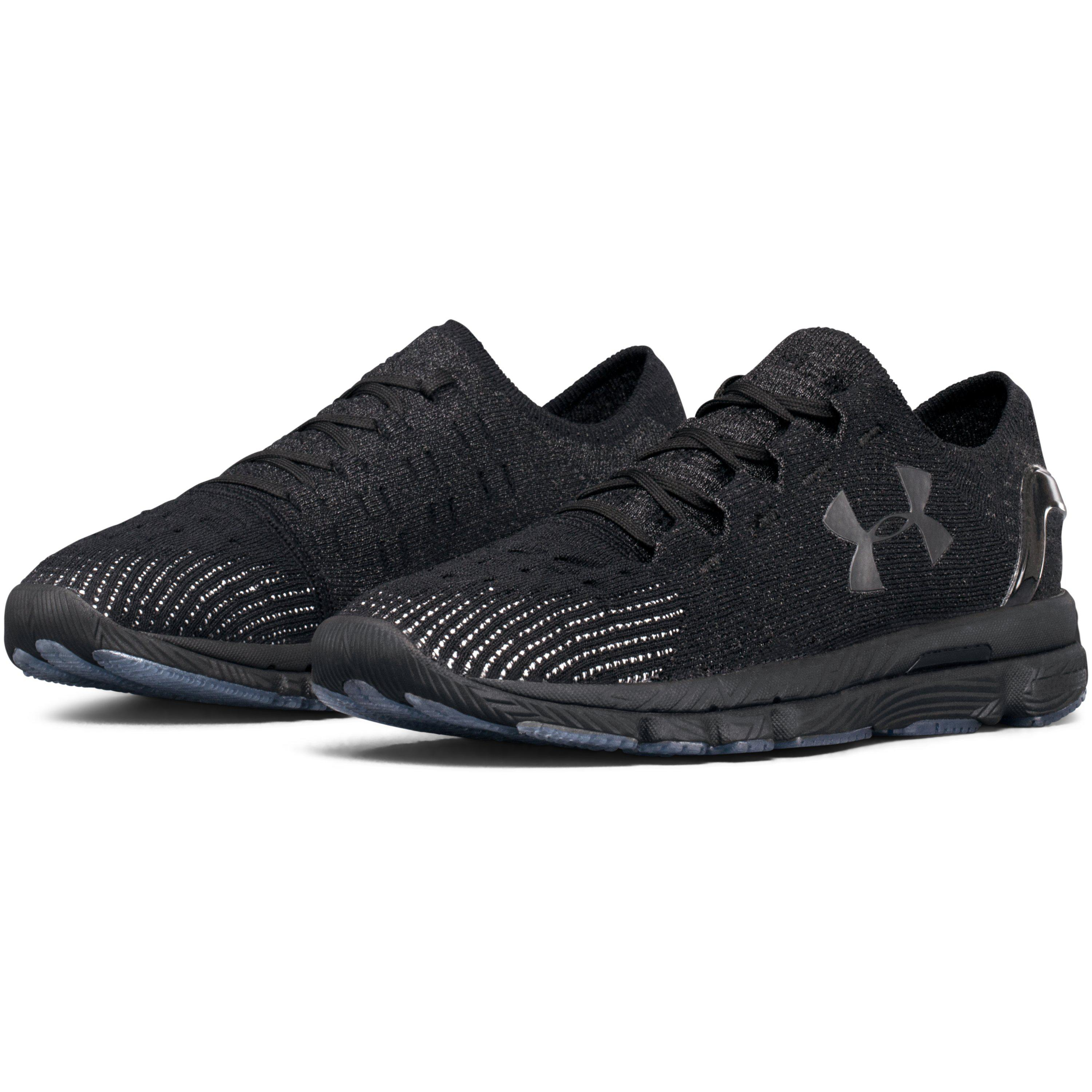women's all black under armour shoes