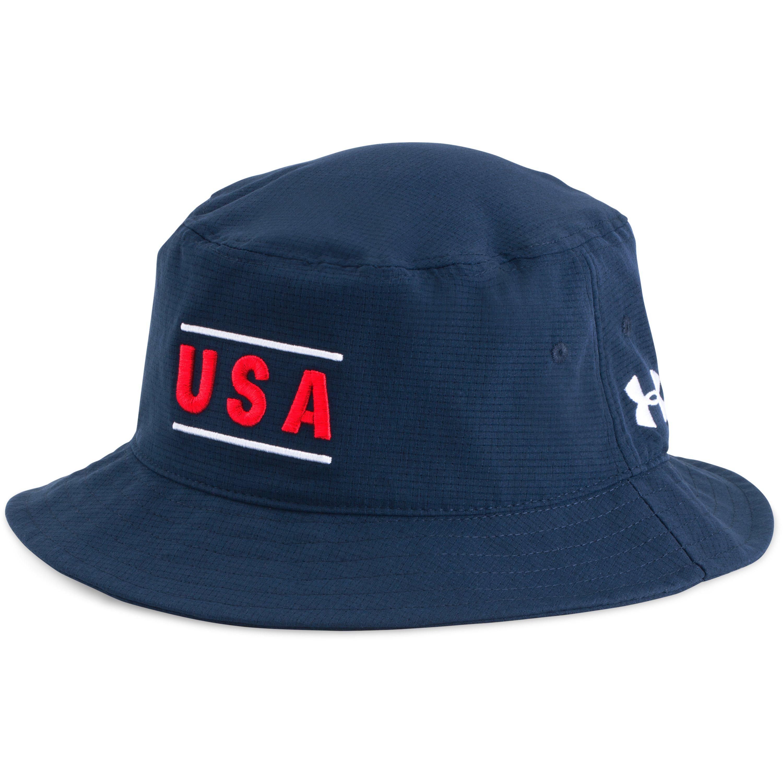 9f82a25b99b Lyst - Under Armour Men s Ua Armourventtm Bucket Hat in Blue for Men