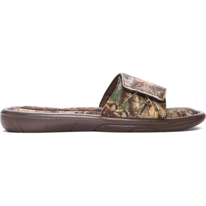 01b66dae30c6 Under Armour Men s Ua Ignite Camo Slide Sandals in Brown for Men - Lyst