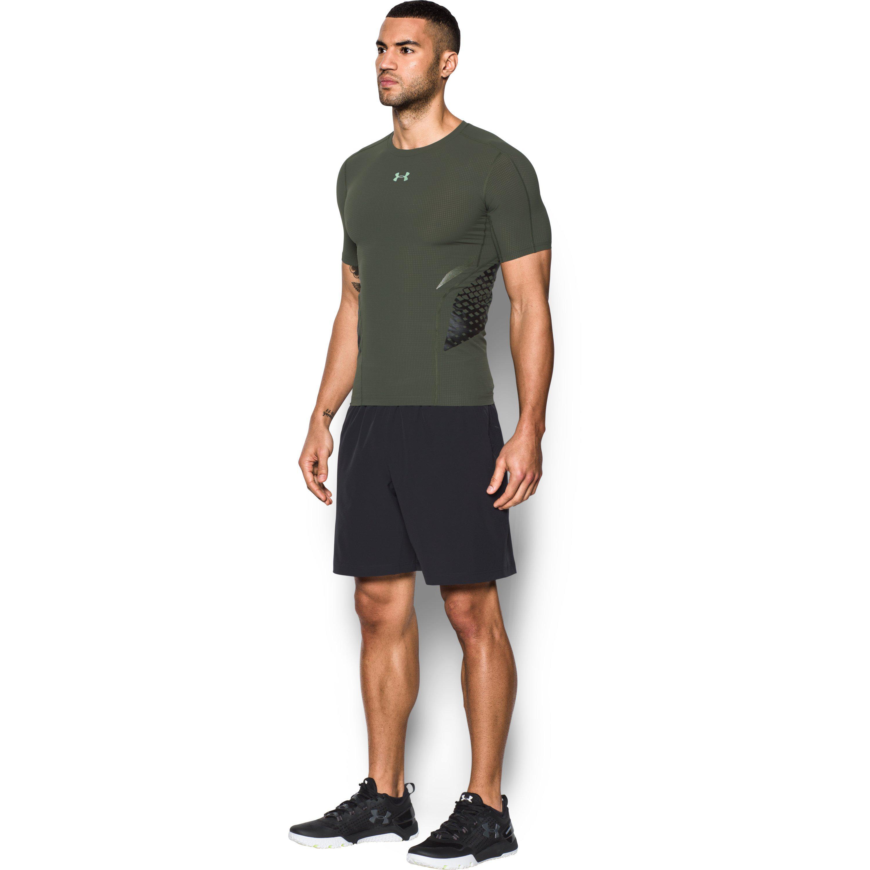 88df9bd35a Green Men's Heatgear® Armor Zone Compression Short Sleeve