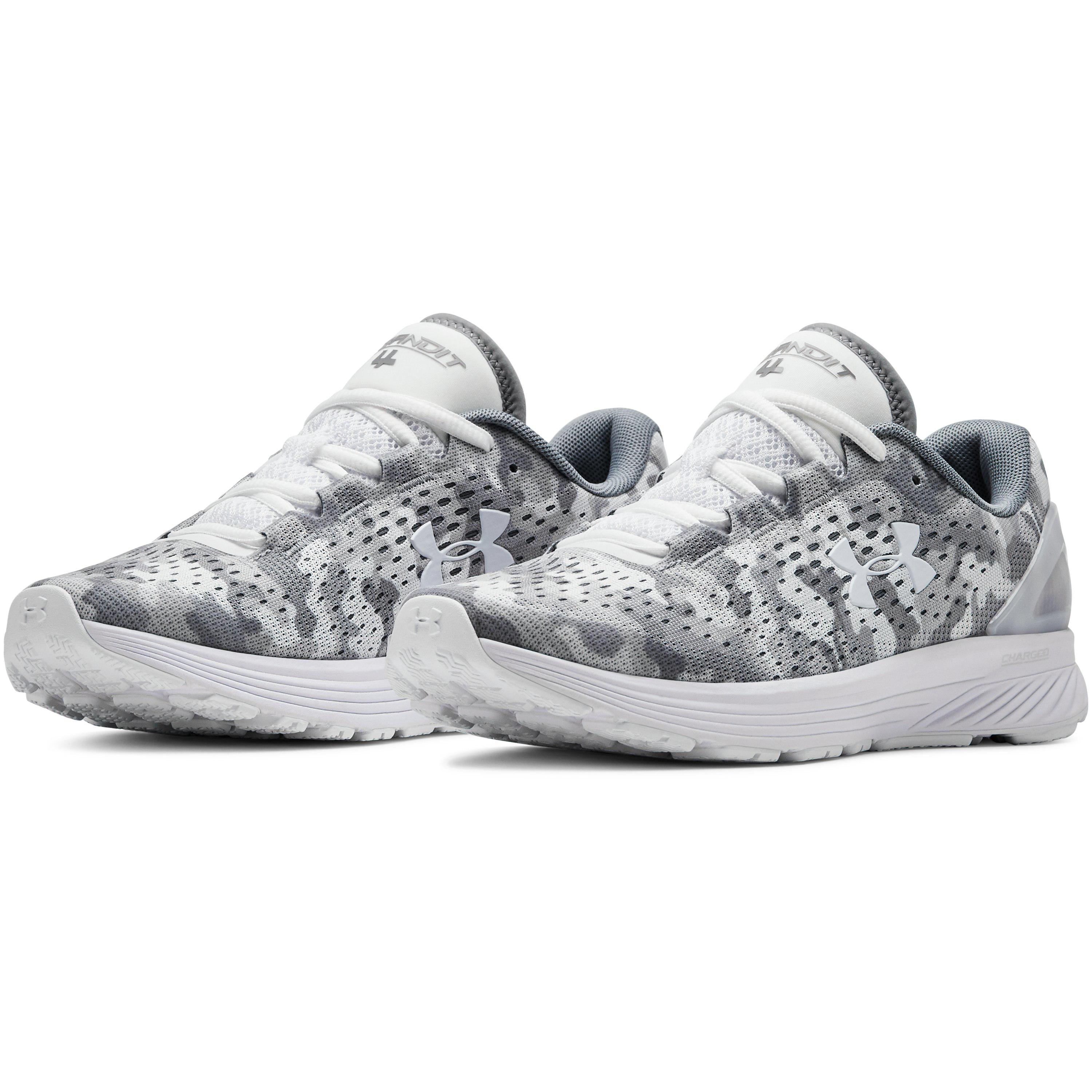 quality design 4d558 3d599 White Women's Ua Charged Bandit 4 Graphic Running Shoes