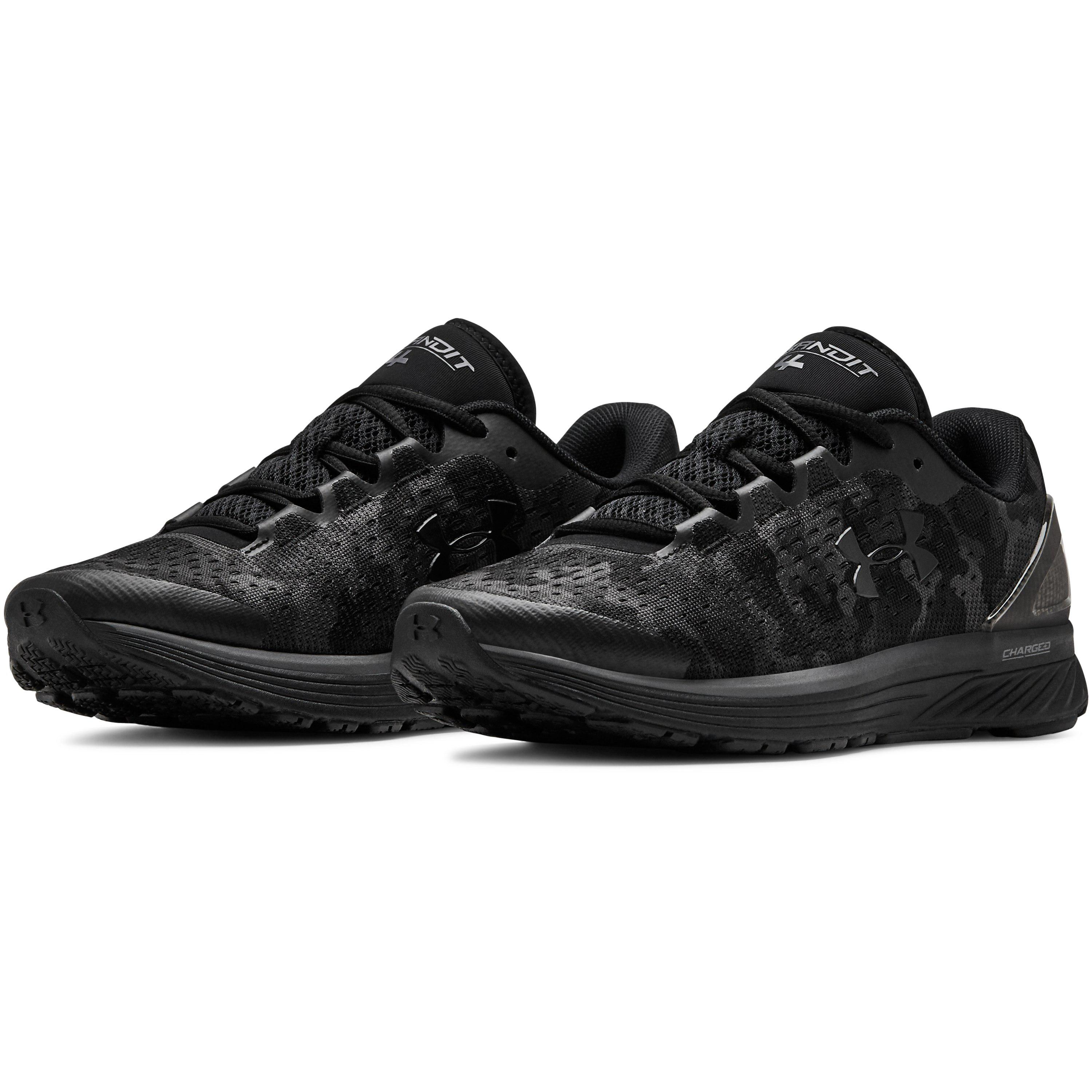 Black Womens Under Armour Charged Bandit 4 Womens Running Shoes