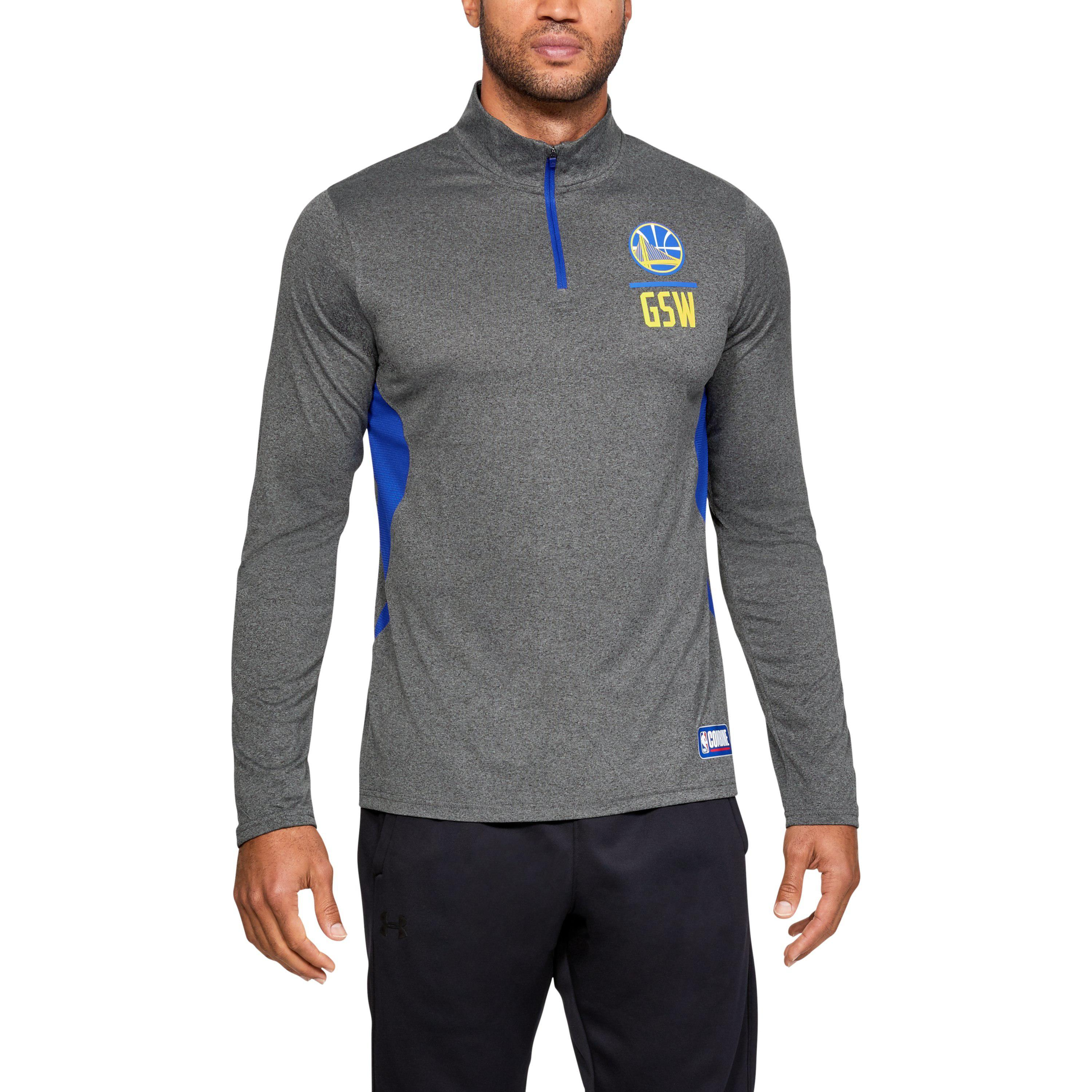 2a9222a03 Under Armour. Blue Men s Nba Combine Authentic Ua Season 1⁄4 Zip Long Sleeve