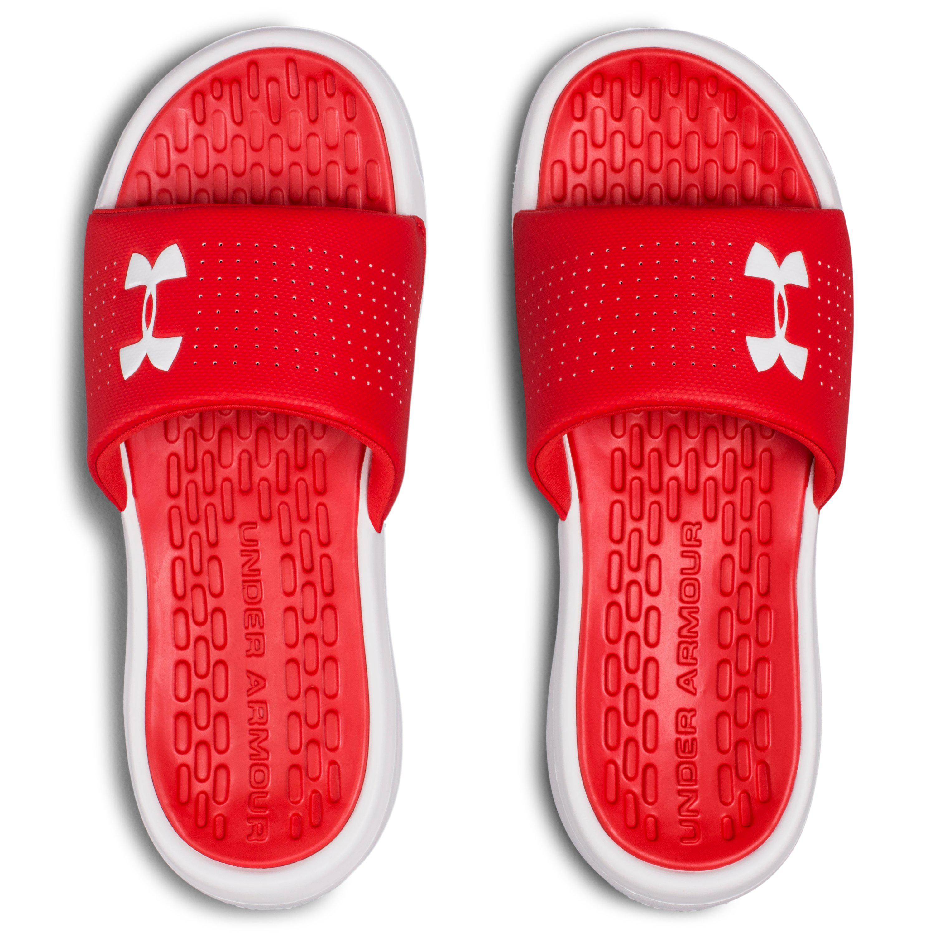 c37a7f62b9 Under Armour Red Playmaker Fix Slide Sneaker for men