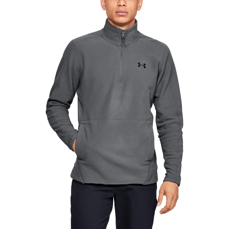 12977a6339c Lyst - Under Armour Men s Ua Zephyr Fleece Solid 1⁄4 Zip in Gray for Men