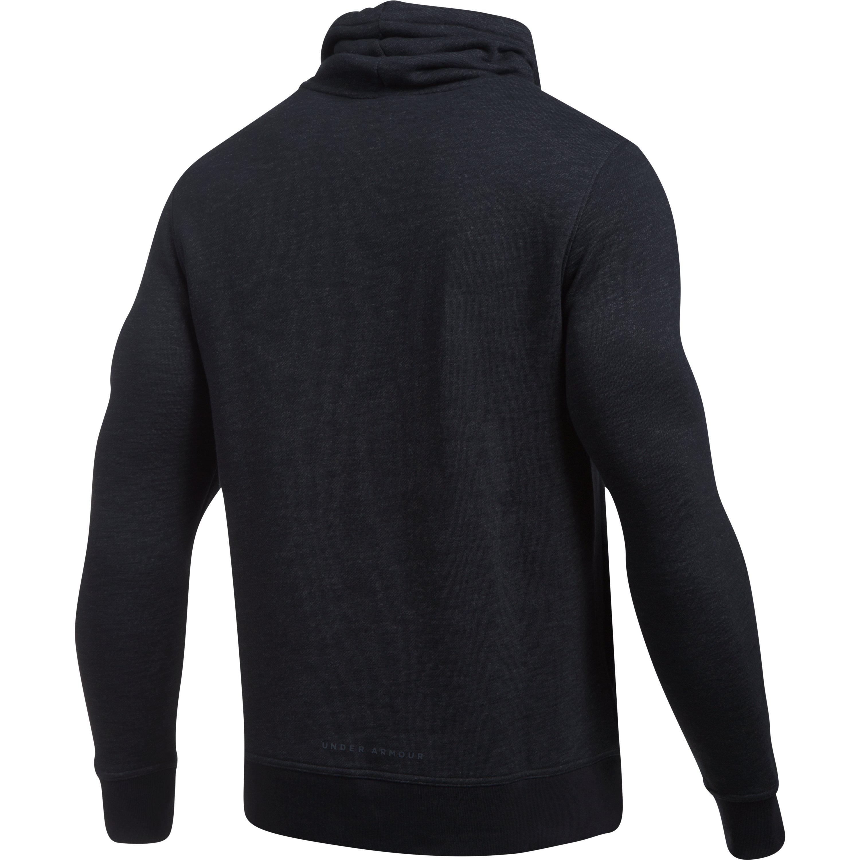 Men/'s Under Armour Baseline Funnelneck Pullover Black NWT
