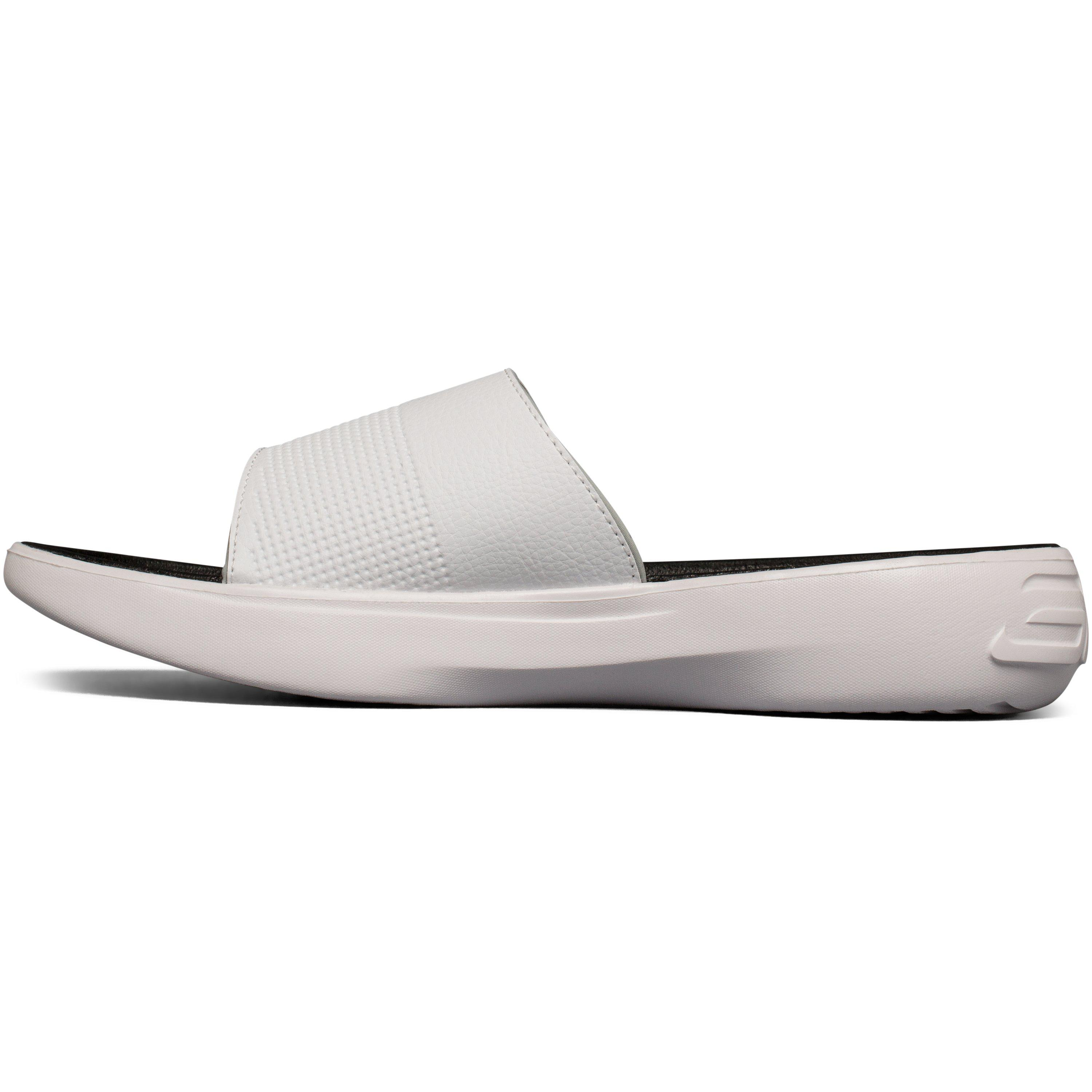 Lyst Under Armour Men S Ua Curry 3 Slides In White For Men