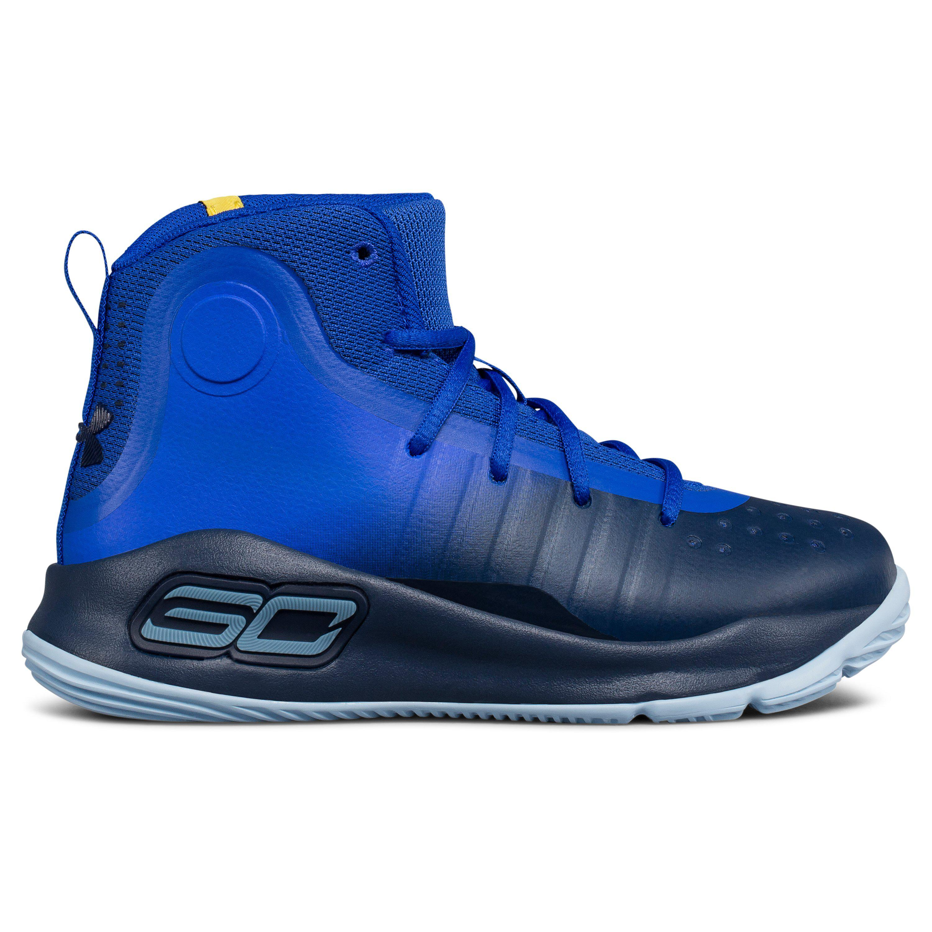 f68f7ba50254 Under Armour Pre-school Ua Curry 4 Mid Basketball Shoes in Blue for ...