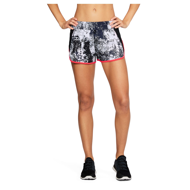 f5965b180 Under Armour Women's Ua Launch Printed Tulip Shorts - Lyst