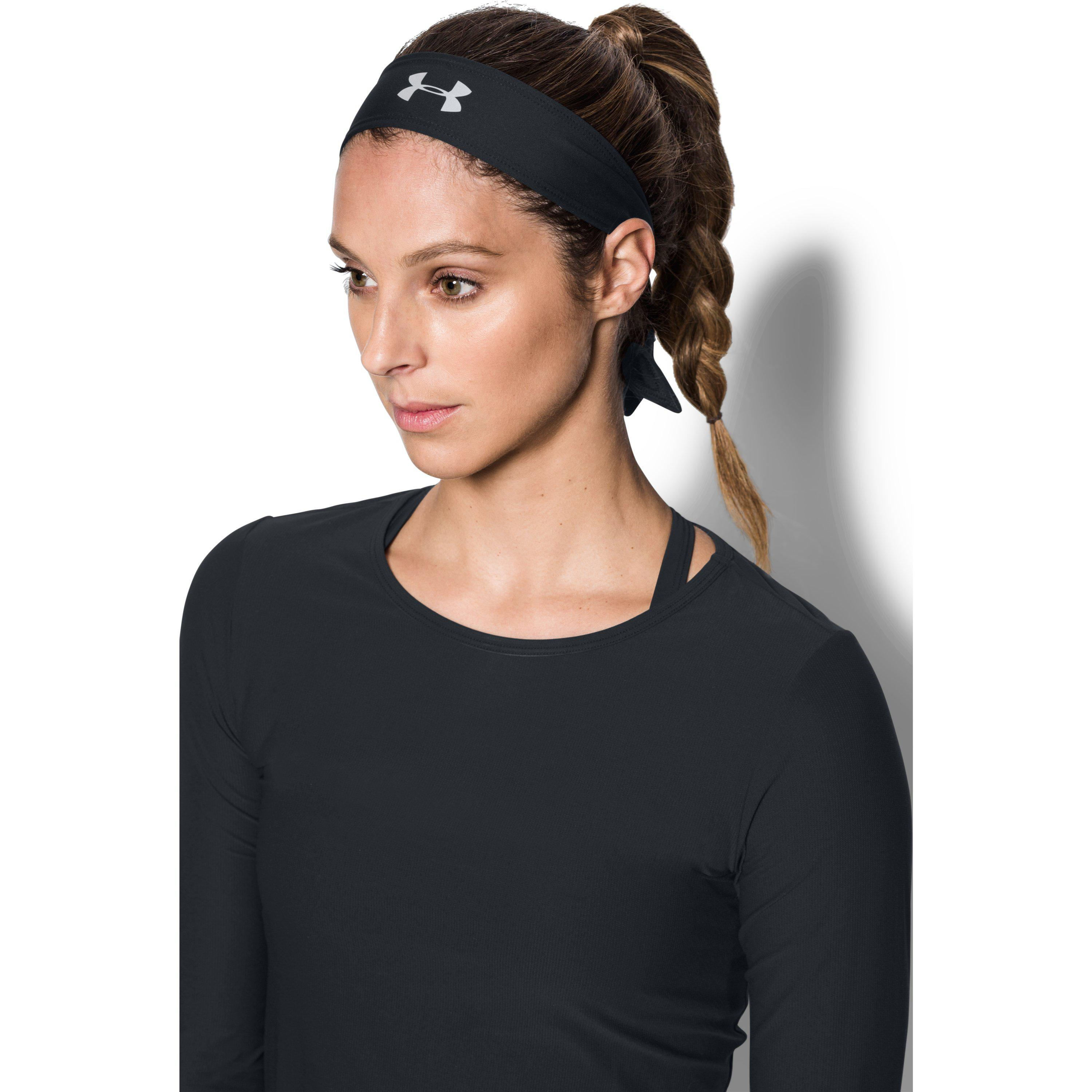 Lyst - Under Armour Women s Ua Armour Tie Headband in Black f765a6bde62