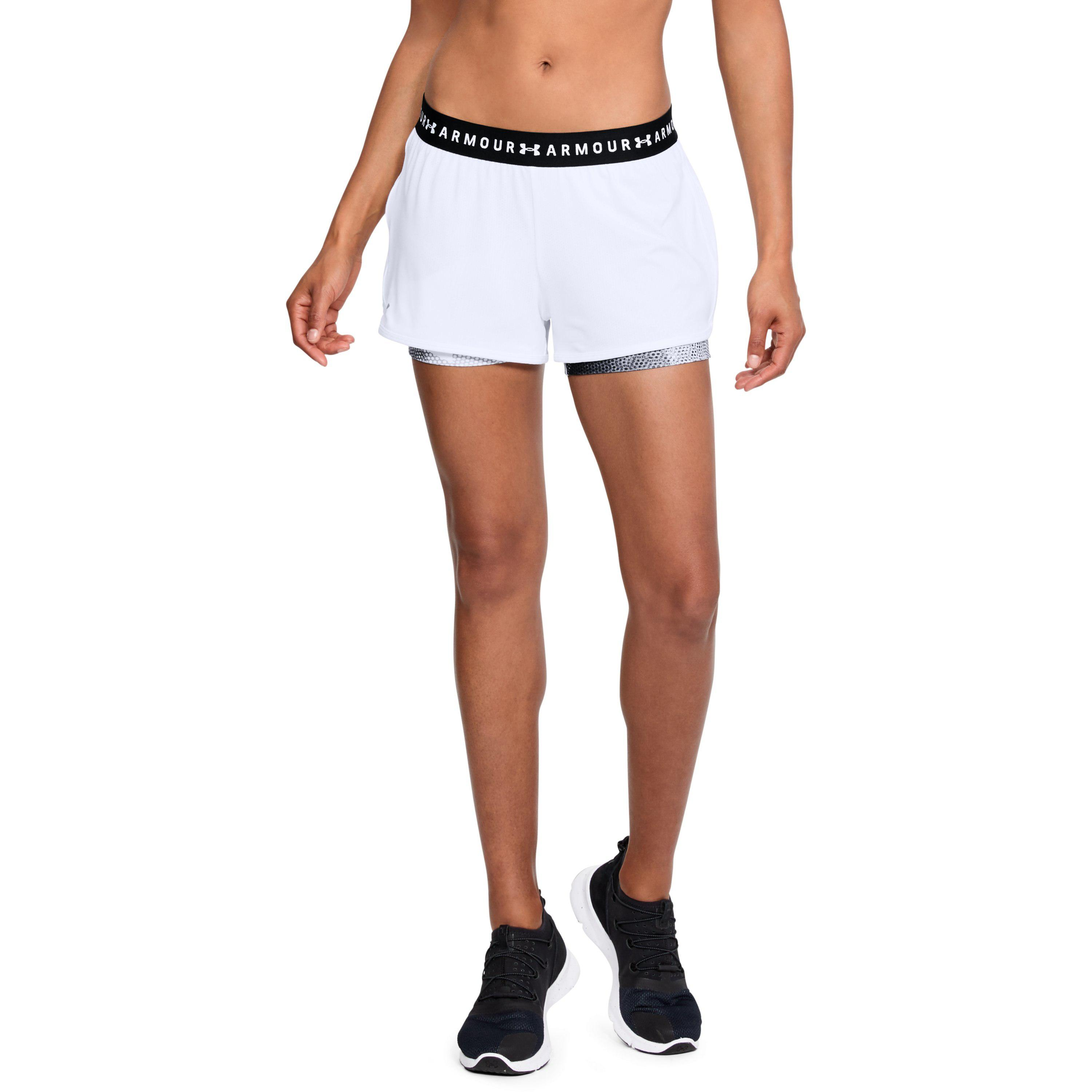 1e638029ef706 Lyst - Under Armour Heatgear Armour 2-in-1 Printed in White