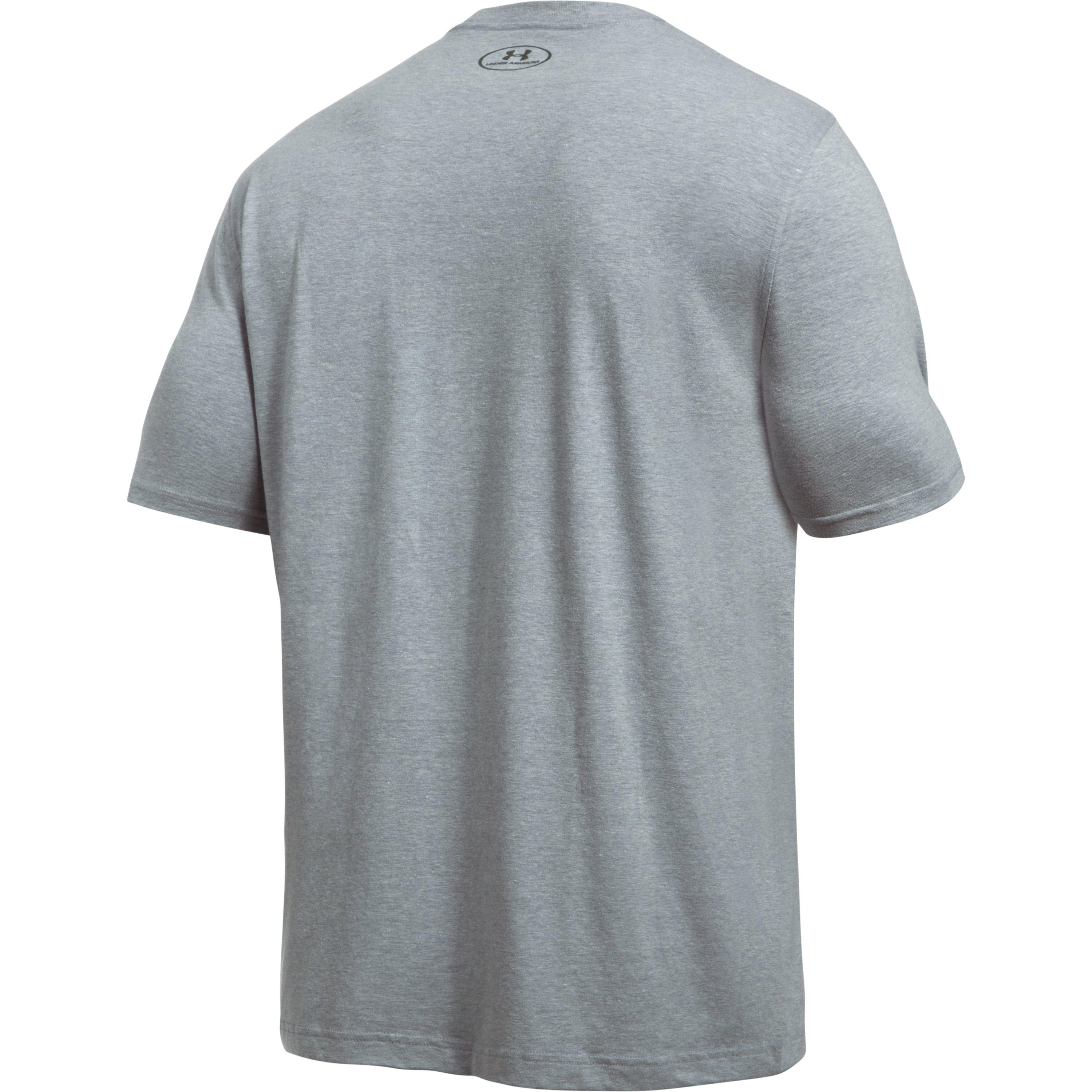New Under Armour Mens UA Camo Knockout Charged Cotton Loose Fit Tee Shirt