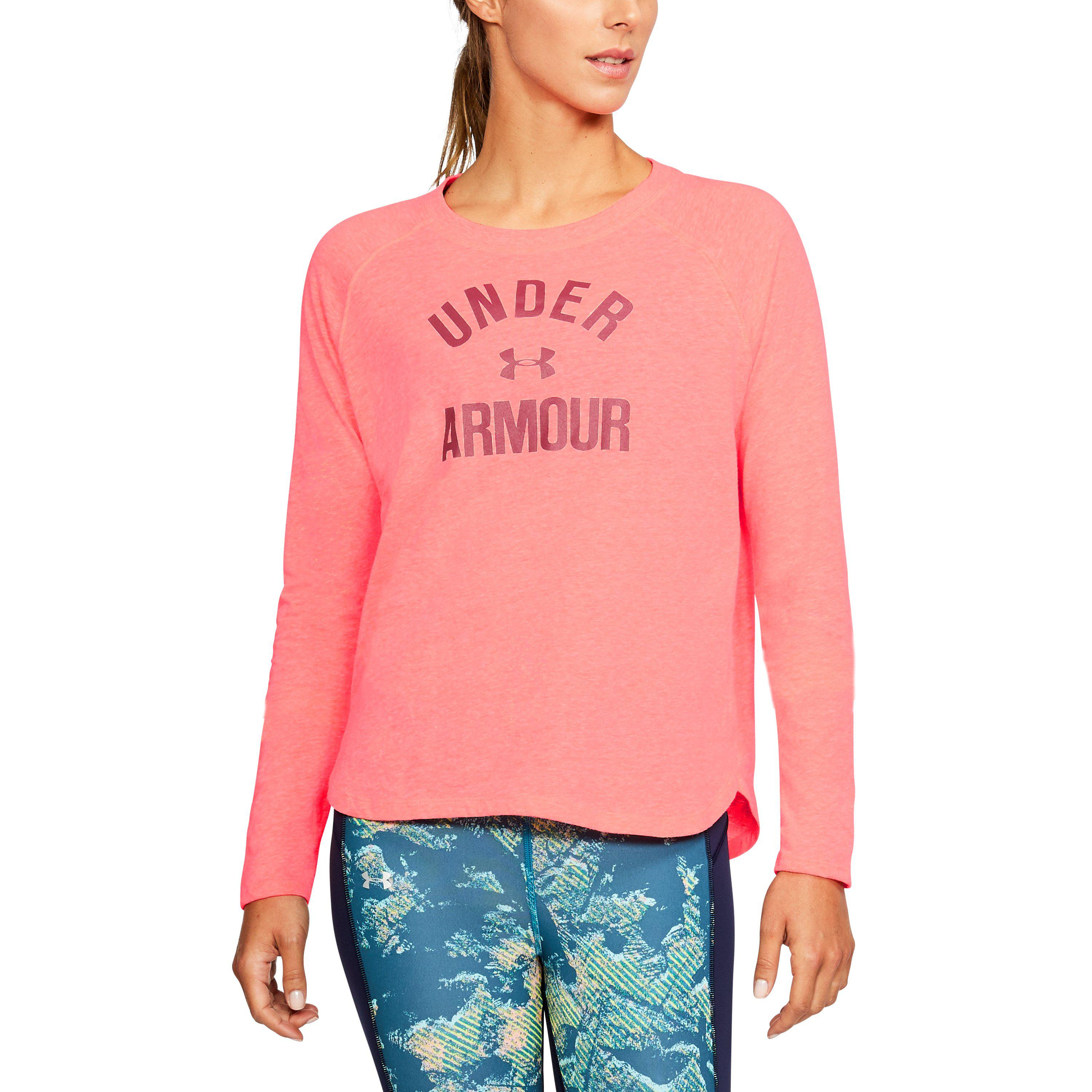 Under Armour Womens Triblend Long Sleeve Graphic
