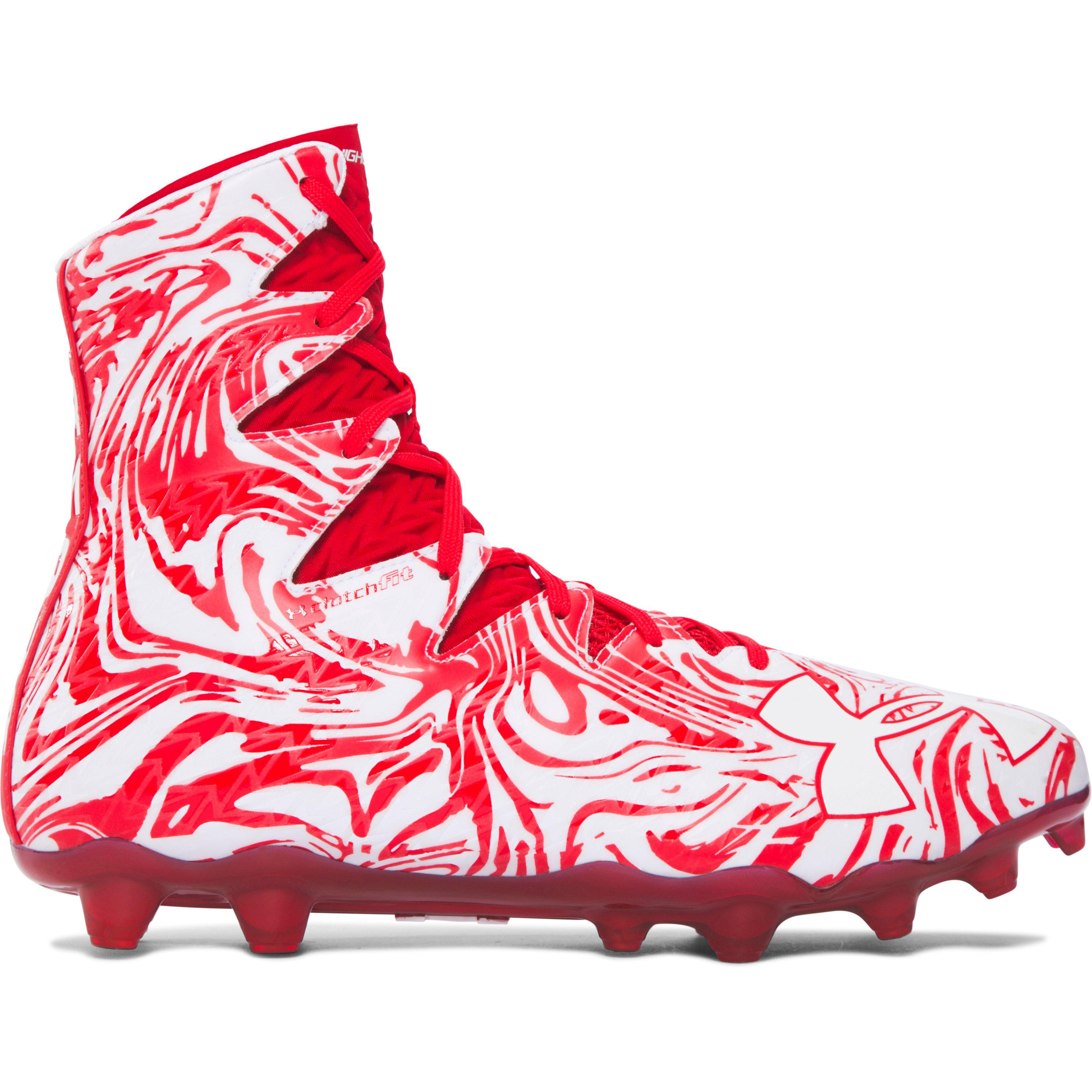 6a47cc154 ... free shipping under armour. red mens ua highlight lux mc football cleats  1acfc ba7cd