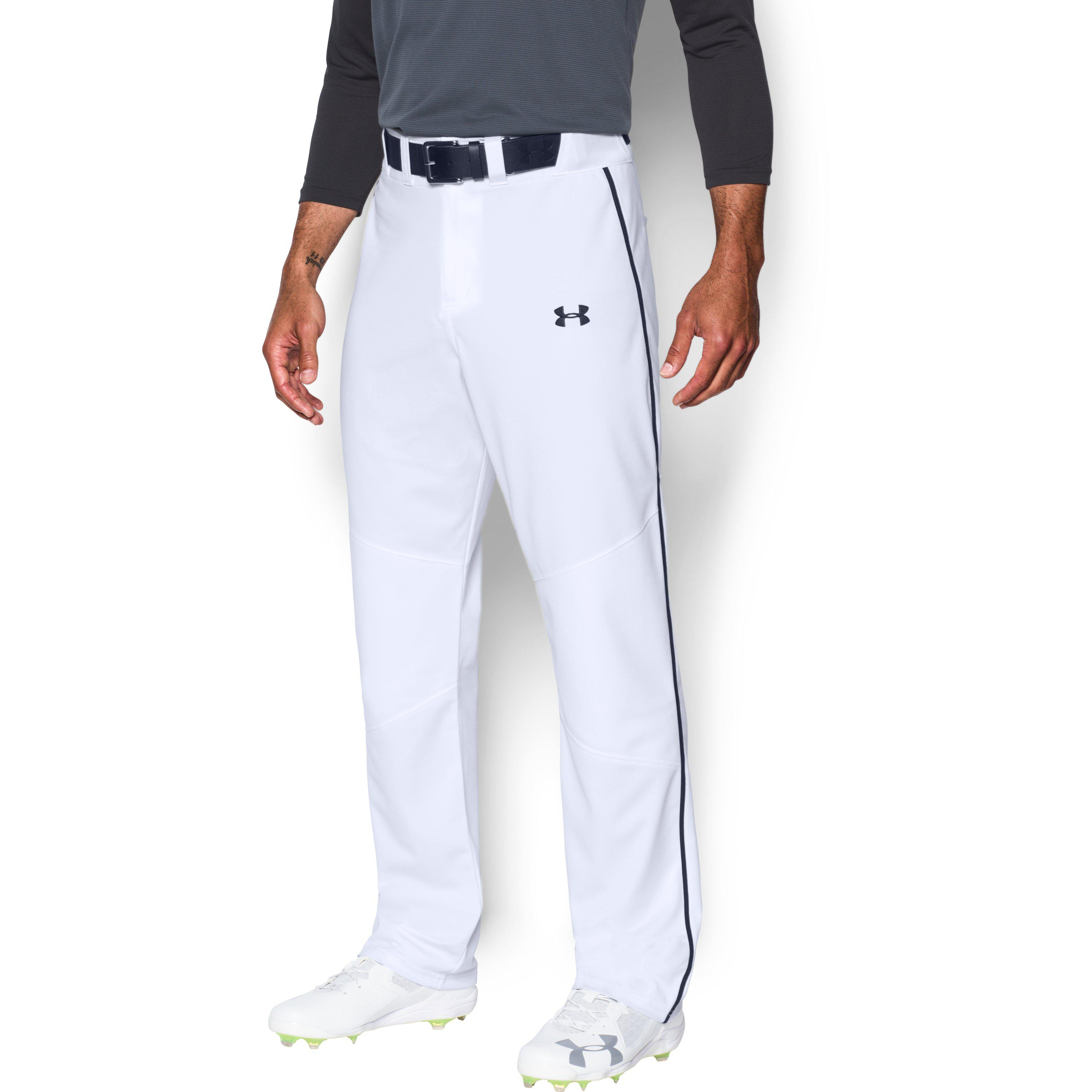 3f736114c5d Lyst Under Armour Heater Piped Baseball In White For Men. Under Armour  Clean Up Piped Pants ...
