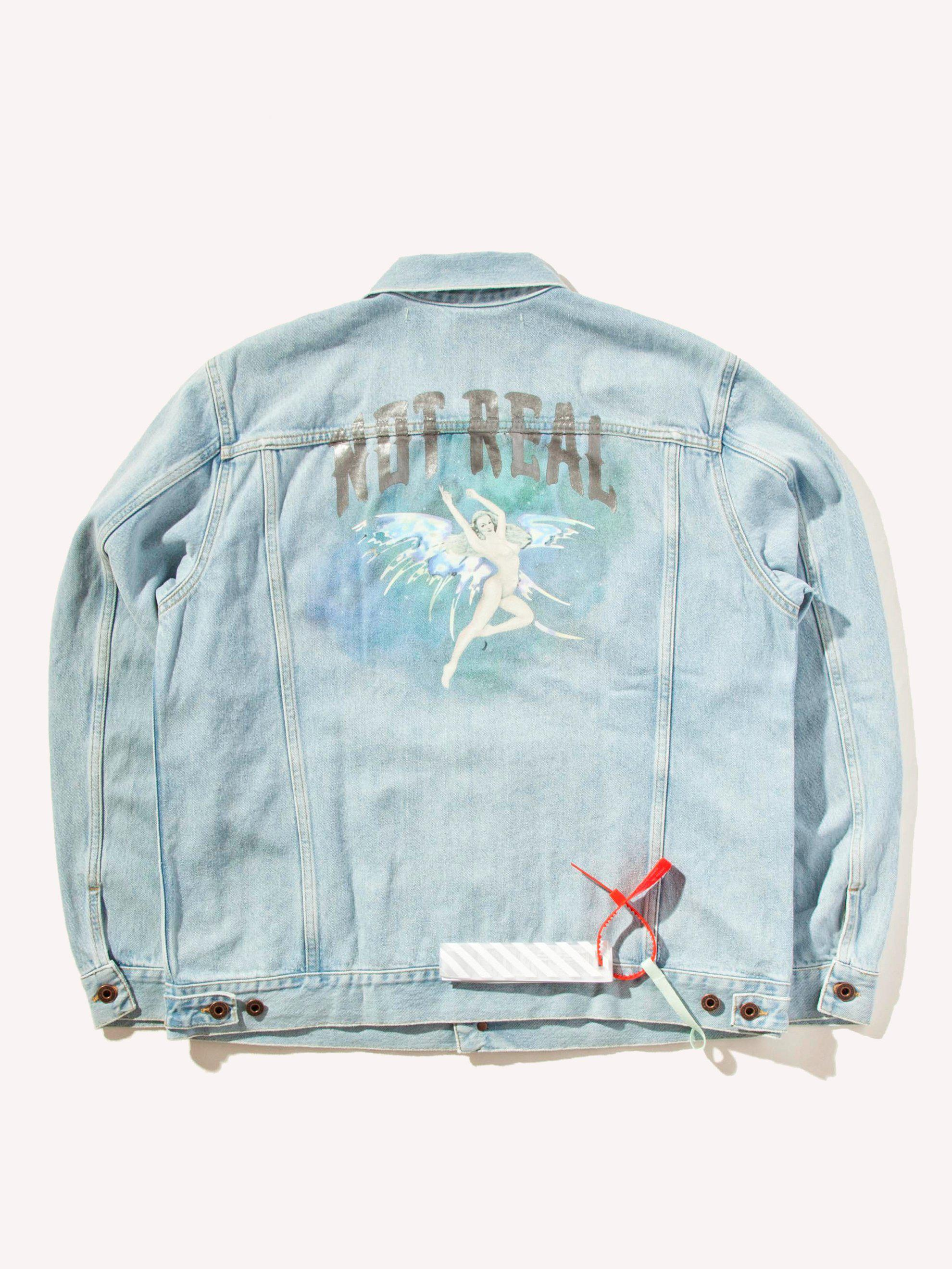 2ad37aeada65 Lyst - Off-White c o Virgil Abloh No Real Angel Denim Jacket in Blue ...