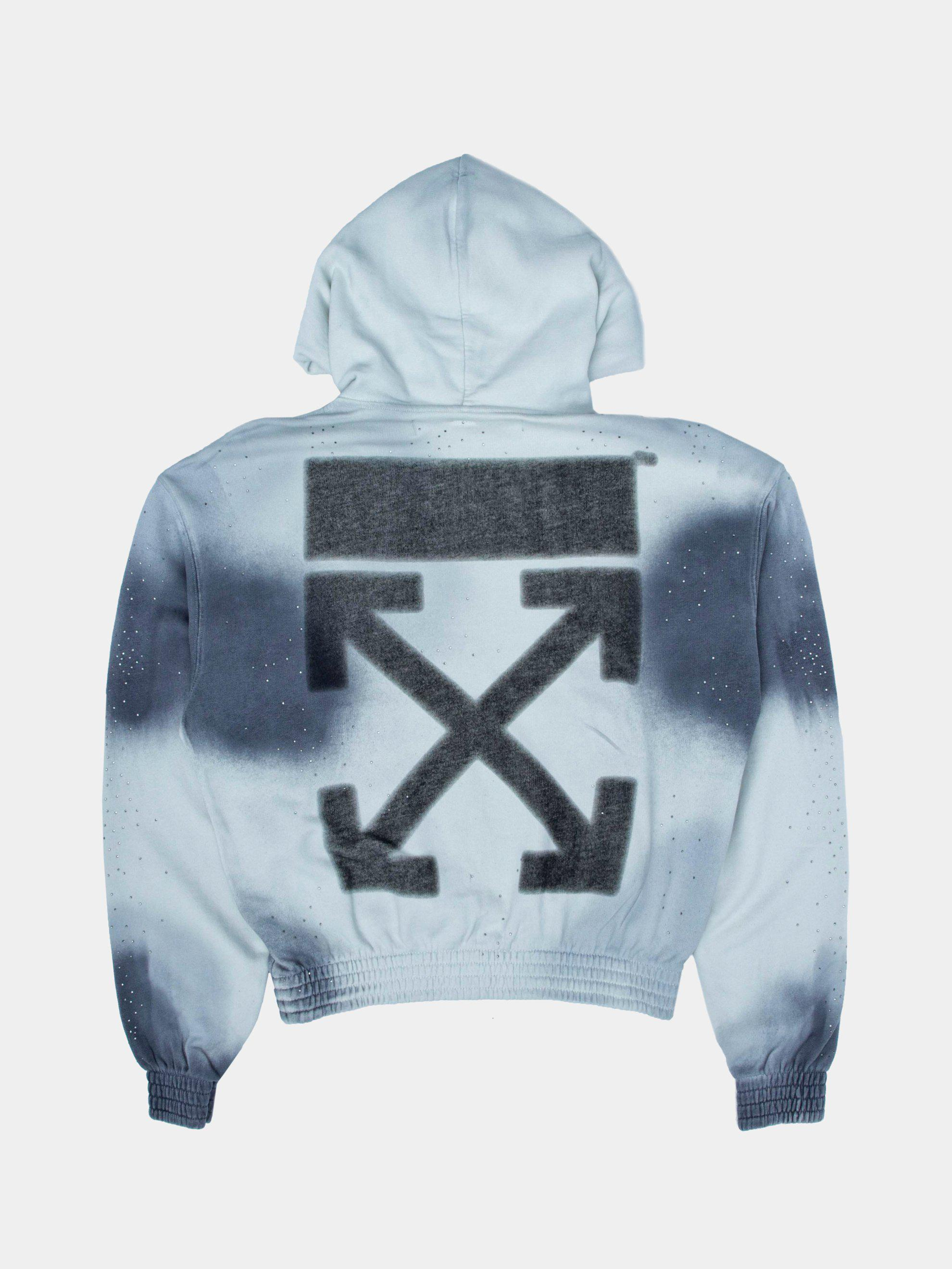 2db8bf6f704d Lyst - Off-White c o Virgil Abloh Spray Over Hoodie in Gray for Men
