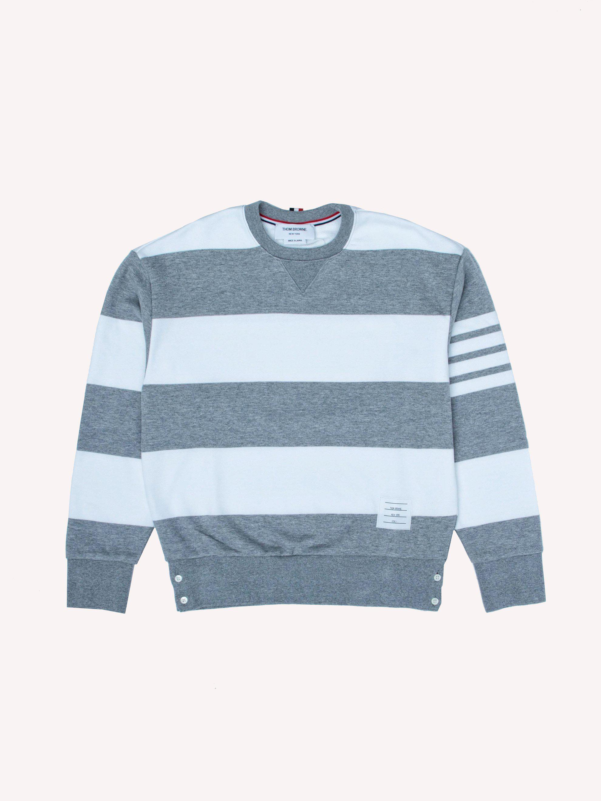 551170c8151 Lyst - Thom Browne Drop Shoulder Crewneck Sweatshirt in Gray for Men