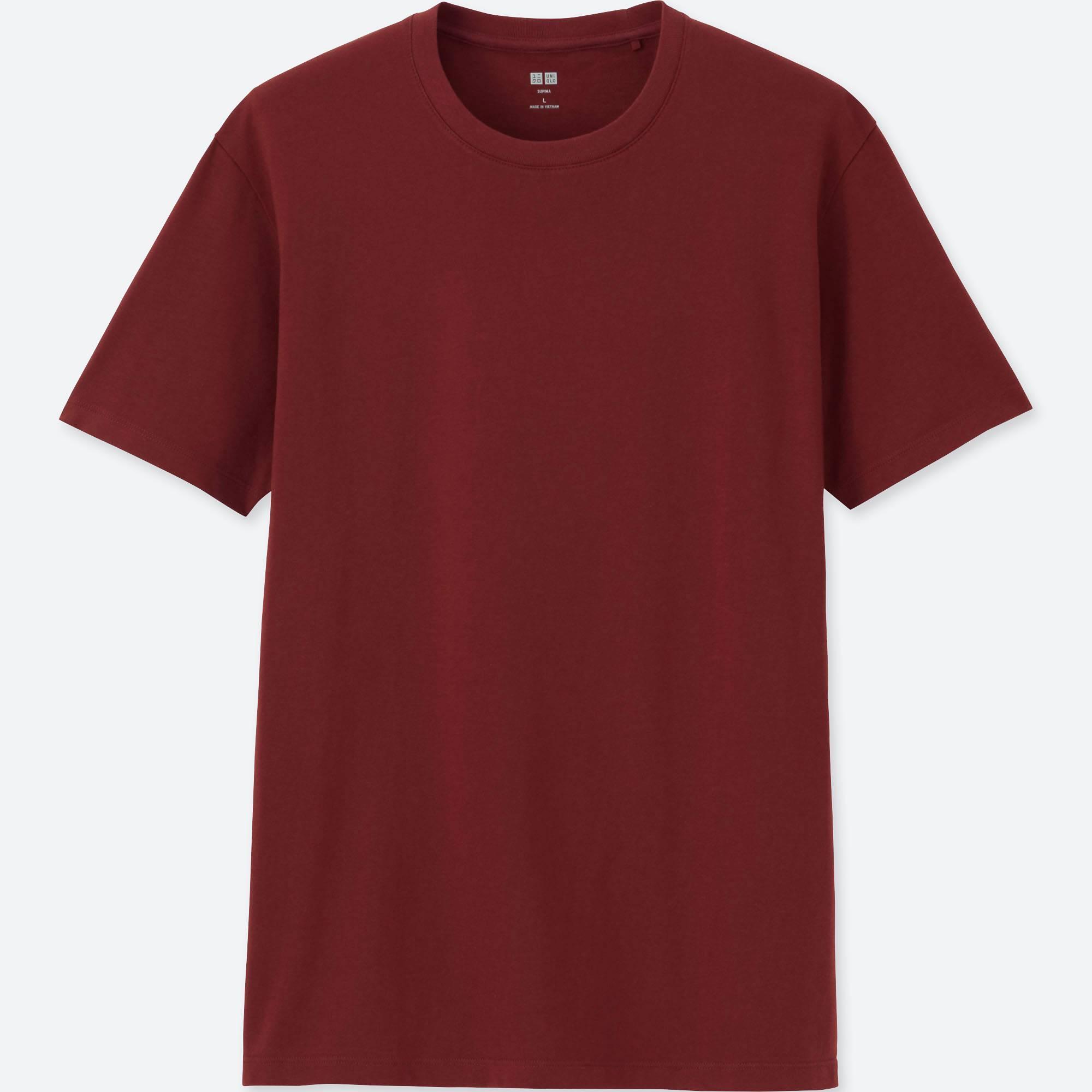 Uniqlo Men Supima Cotton Crew Neck Short Sleeve T Shirt
