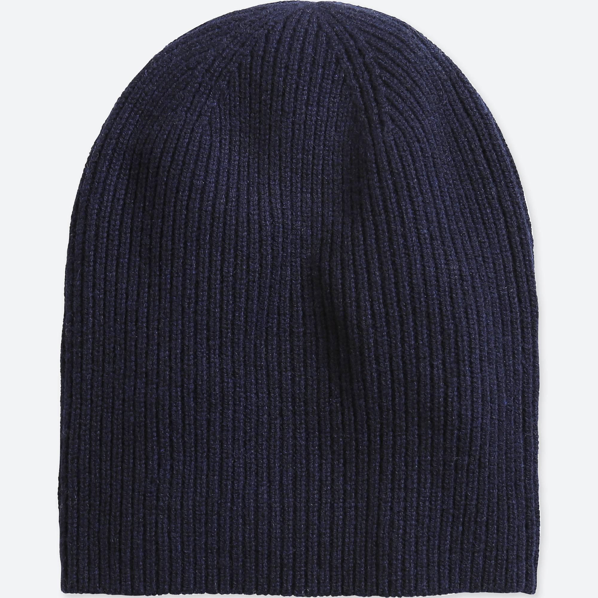 581f33d5f0118 Lyst - Uniqlo Cashmere Knitted Beanie in Blue
