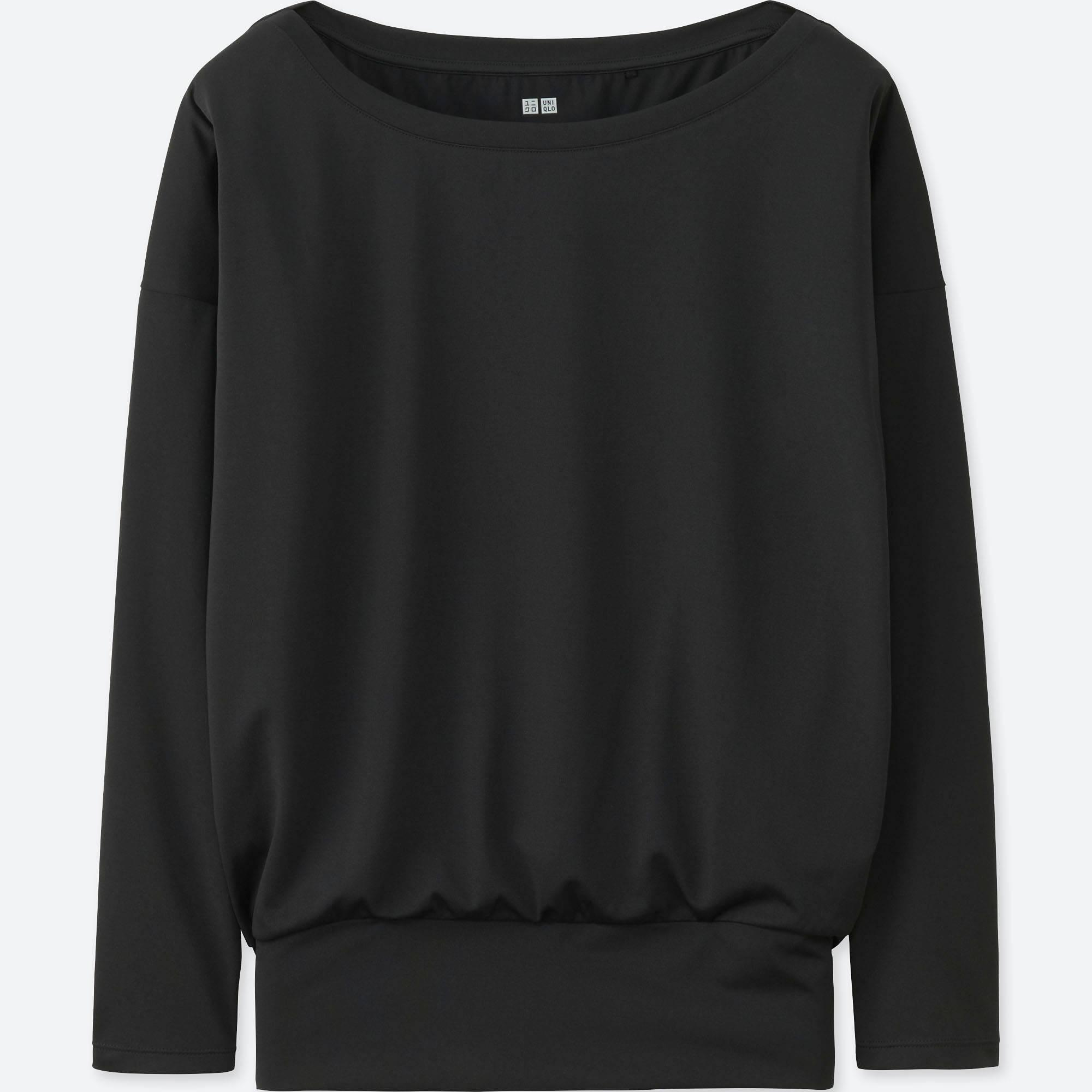Uniqlo Women Airism Yoga Long-sleeve T-shirt In Black