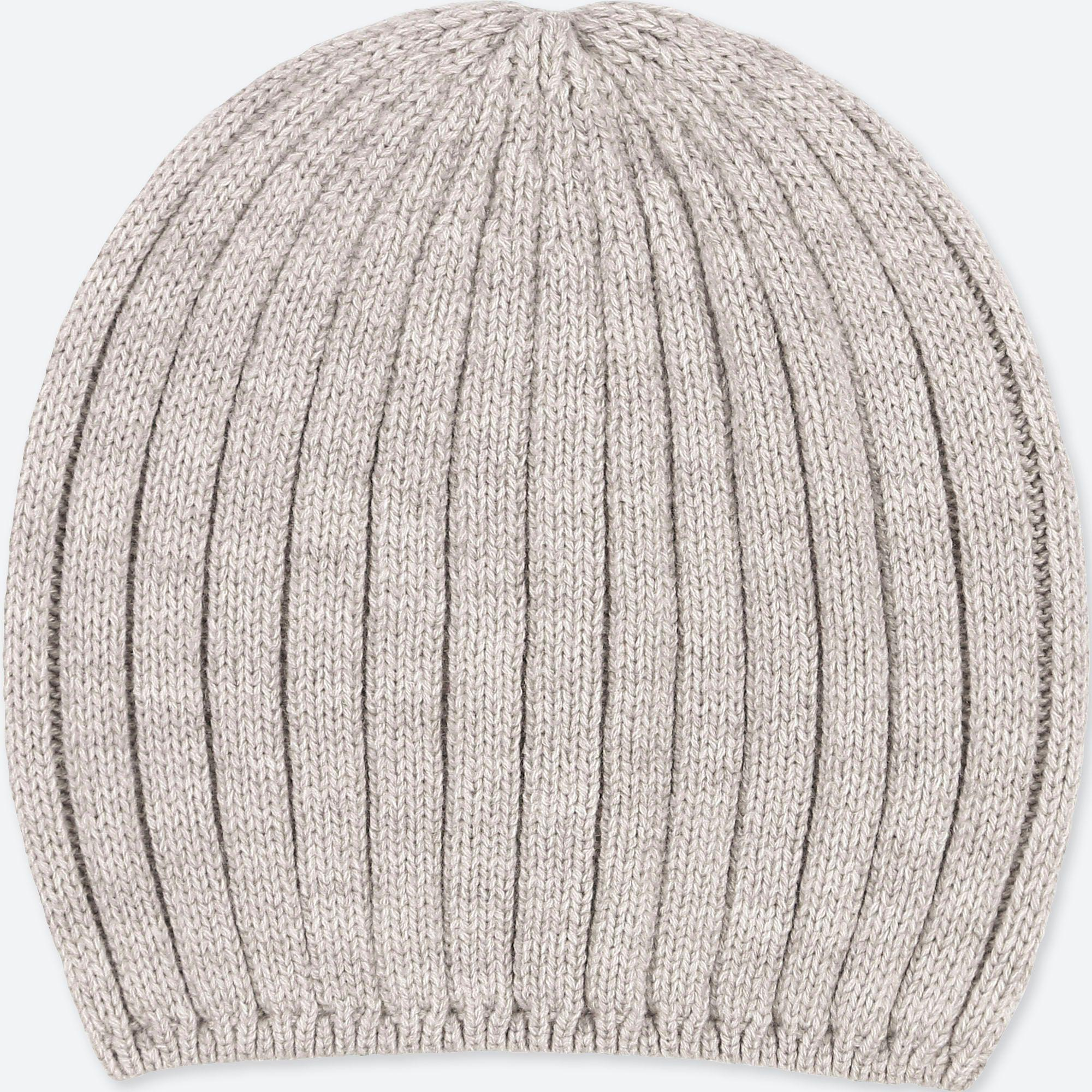 92acb98428d85 Uniqlo Heattech Knitted Beanie Hat in Gray - Lyst