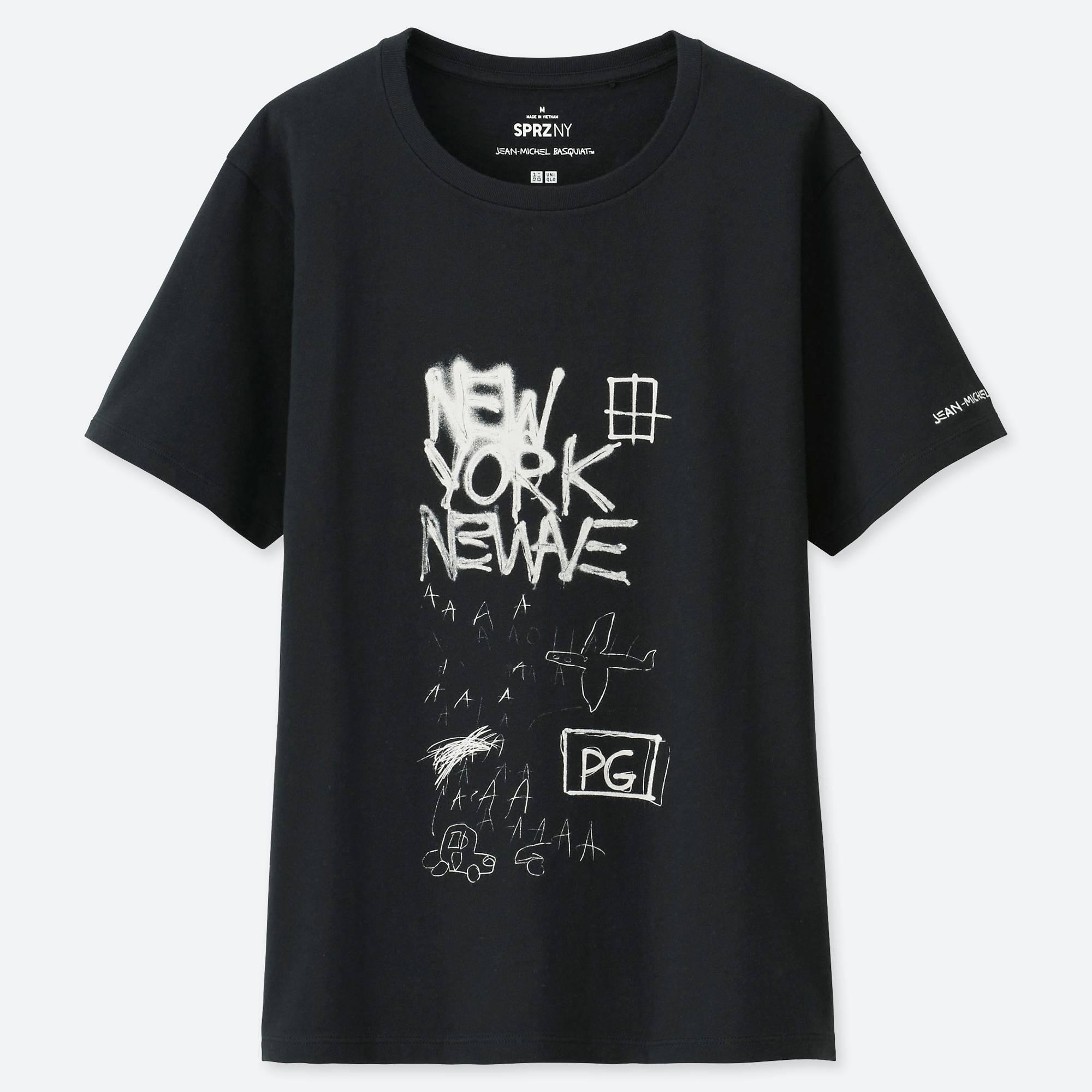 2fa743ca4bb9a9 Uniqlo - Black Women Sprz Ny Short-sleeve Graphic T-shirt (jean-. View  fullscreen
