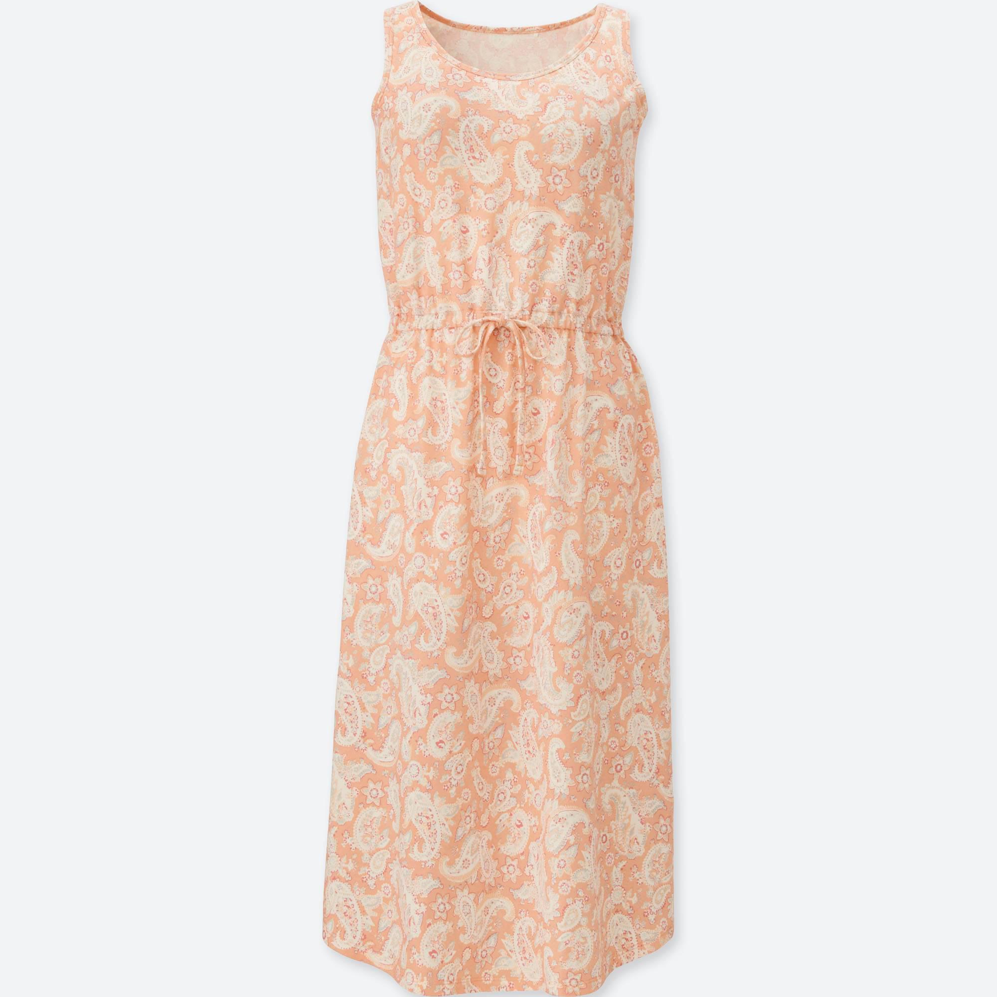 f1b378b420 Lyst - Uniqlo Sleeveless Relax Bra Dress in Orange