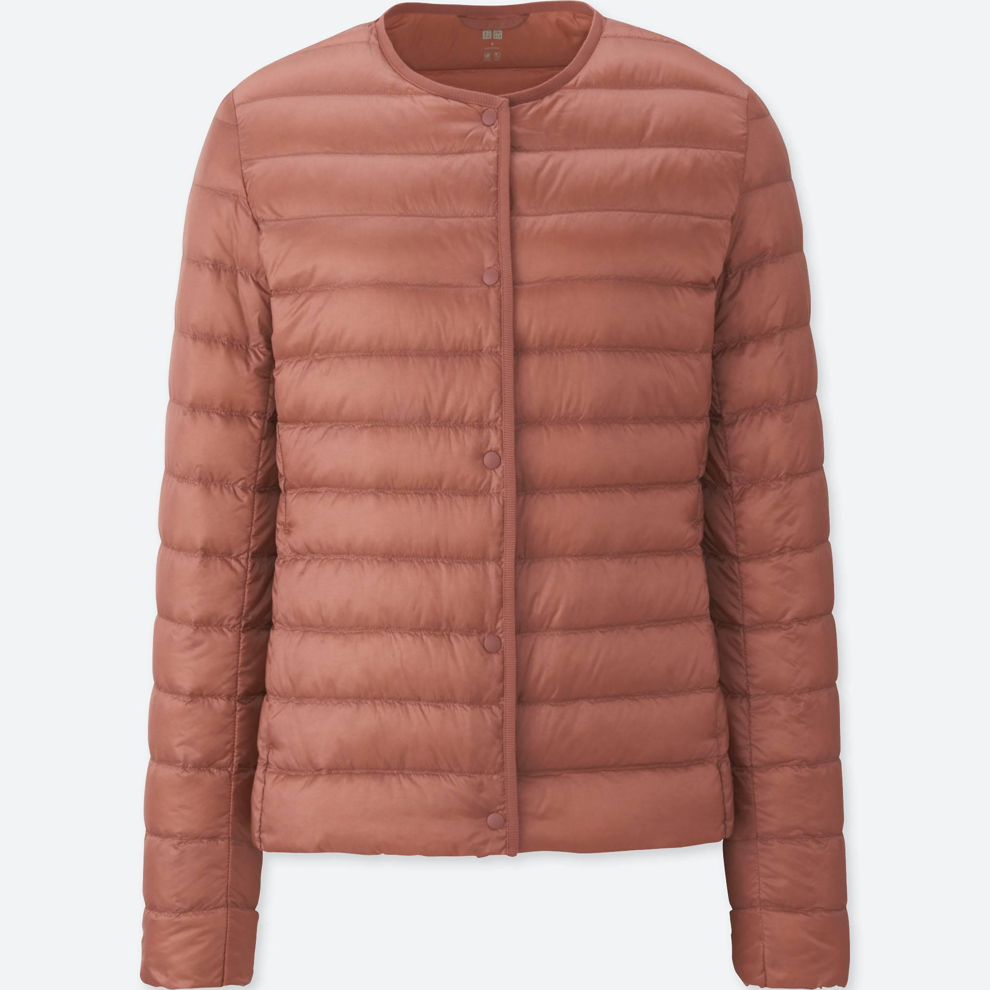 lyst uniqlo women ultra light down compact jacket in pink. Black Bedroom Furniture Sets. Home Design Ideas