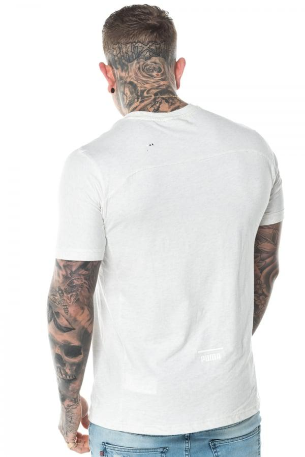 6b89c299814e Lyst - PUMA Pace Primary Tee in White for Men
