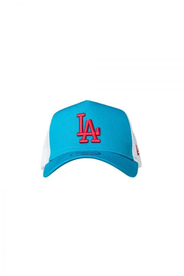Lyst - Ktz Los Angeles Dodgers Essential A Frame Trucker Cap in Blue ...