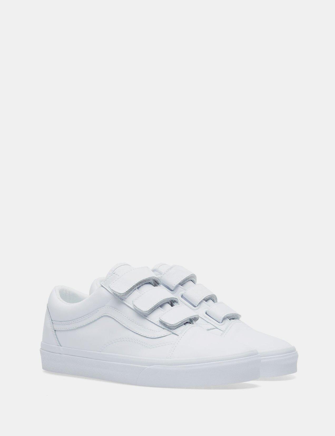 white velcro vans
