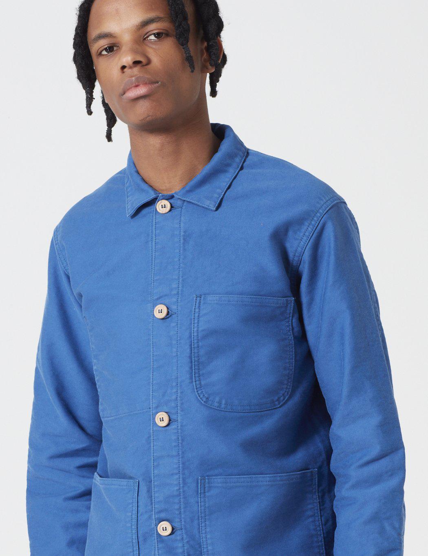 bleu de paname doudoune sans manche bleuet