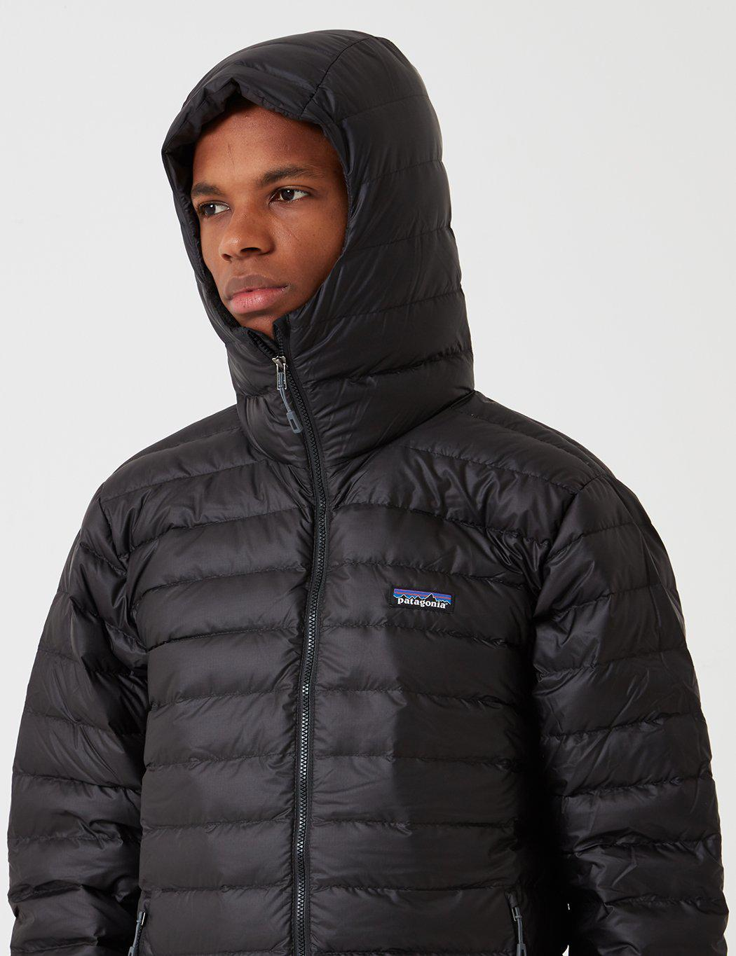 72627846 Lyst - Patagonia Down Sweater Hooded Jacket in Black for Men