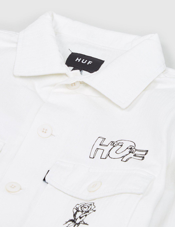 Huf Cotton Scrawl Bdu Jacket in White for Men