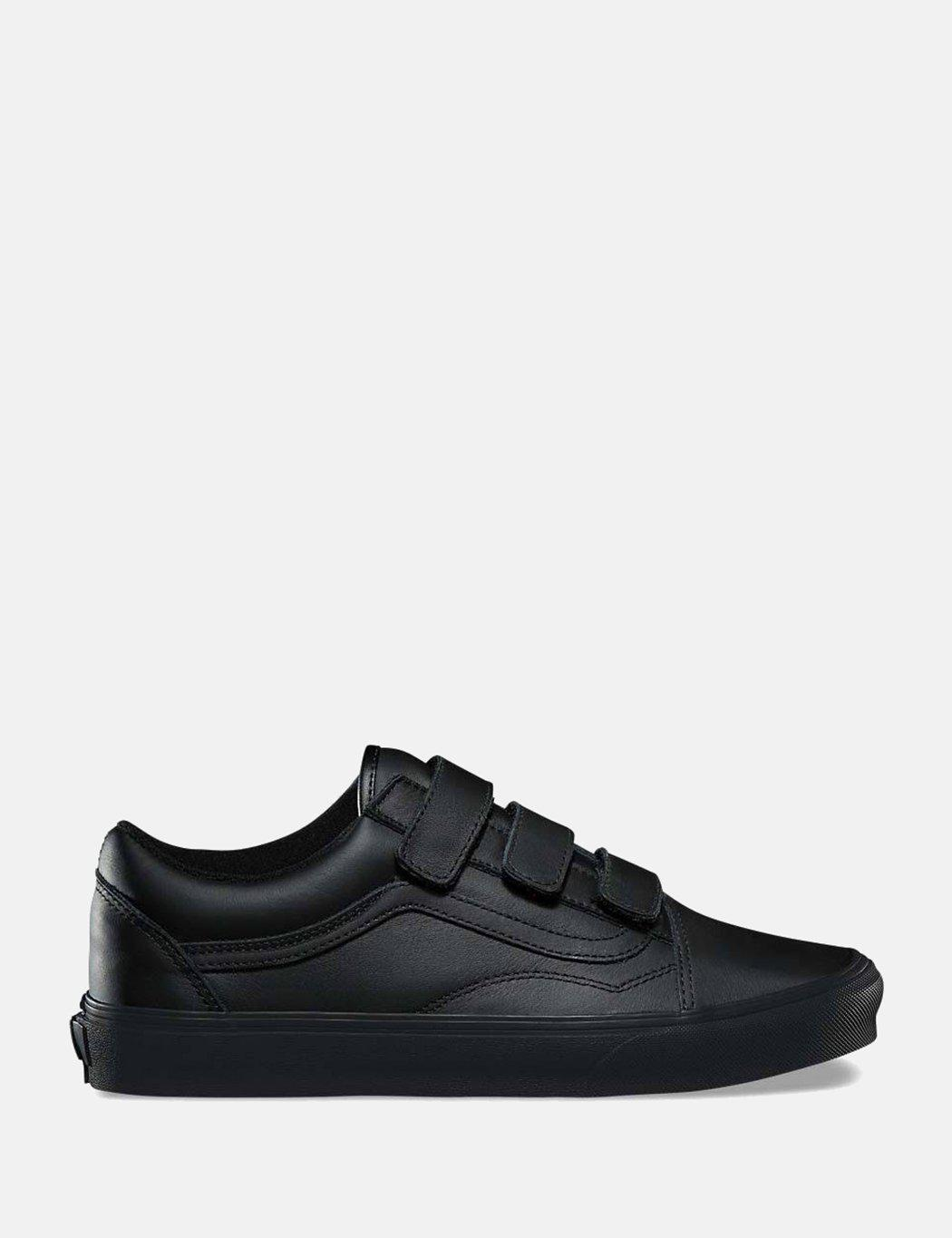 f1a490577a0f Lyst - Vans Old Skool Velcro (mono Leather) in Black for Men